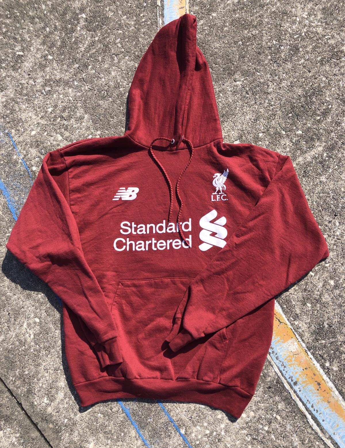 New Balance Liverpool Fc Soccer Jersey Hoodie Sweatshirt Lfc New Balance Grailed
