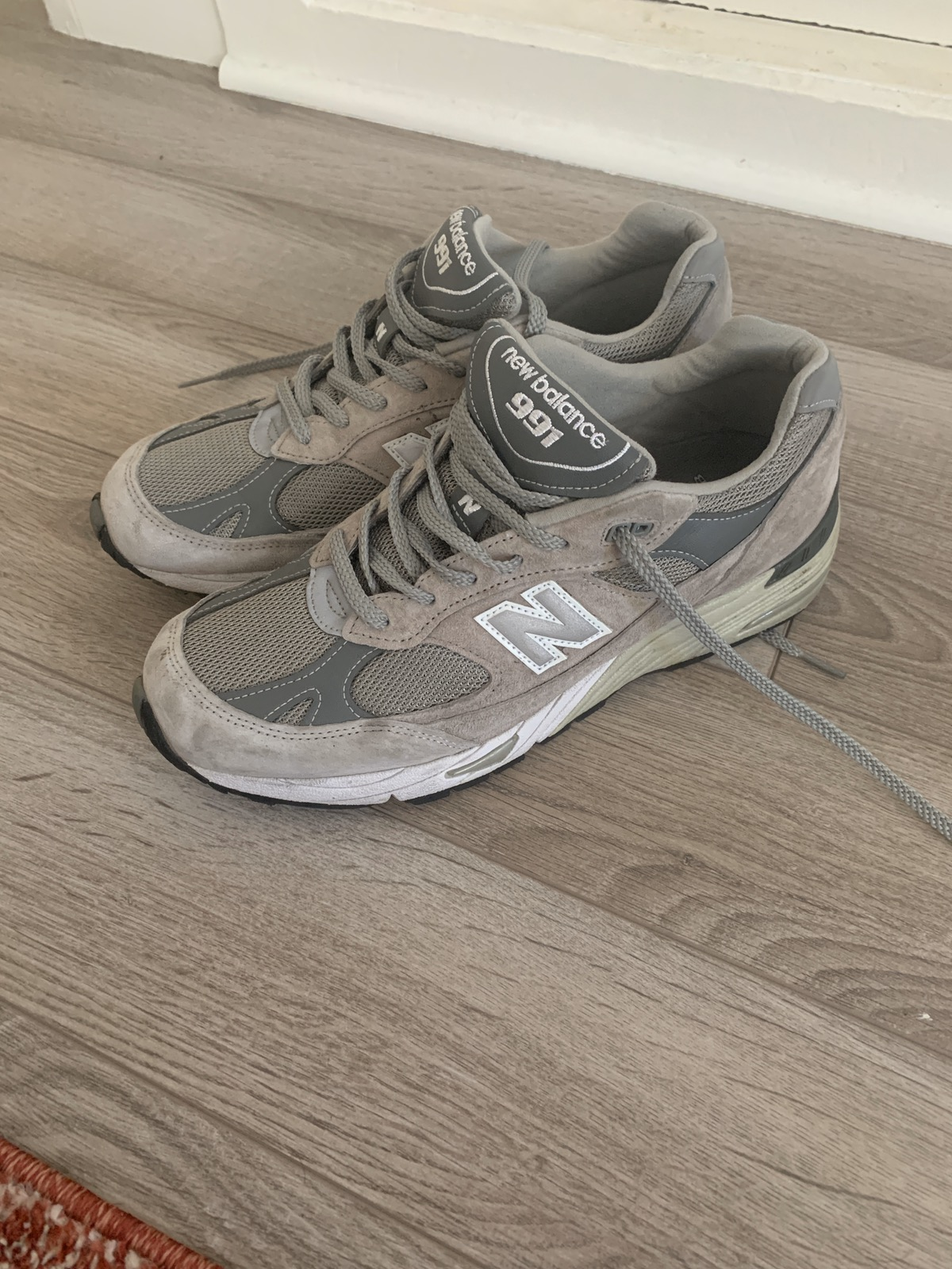 New Balance New Balance 991 Made In Usa Grey Kith Grailed