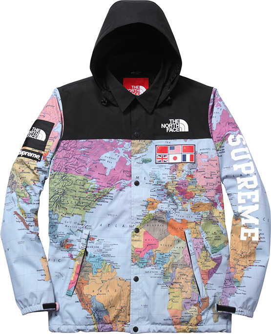 Supreme Supreme X The North Face Worldwide Map Jacket Size s