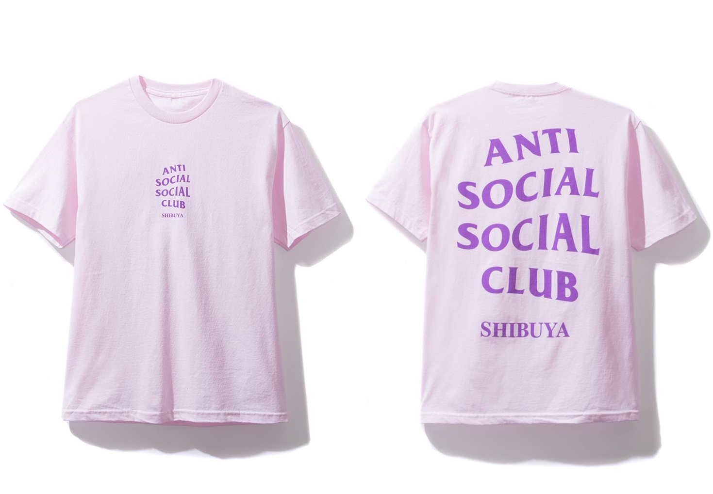 3a358f451607 Anti Social Social Club ×. DS Anti Social Social Club ASSC Purple Logo  Shibuya Pink Tee in hand Bape Supreme kith