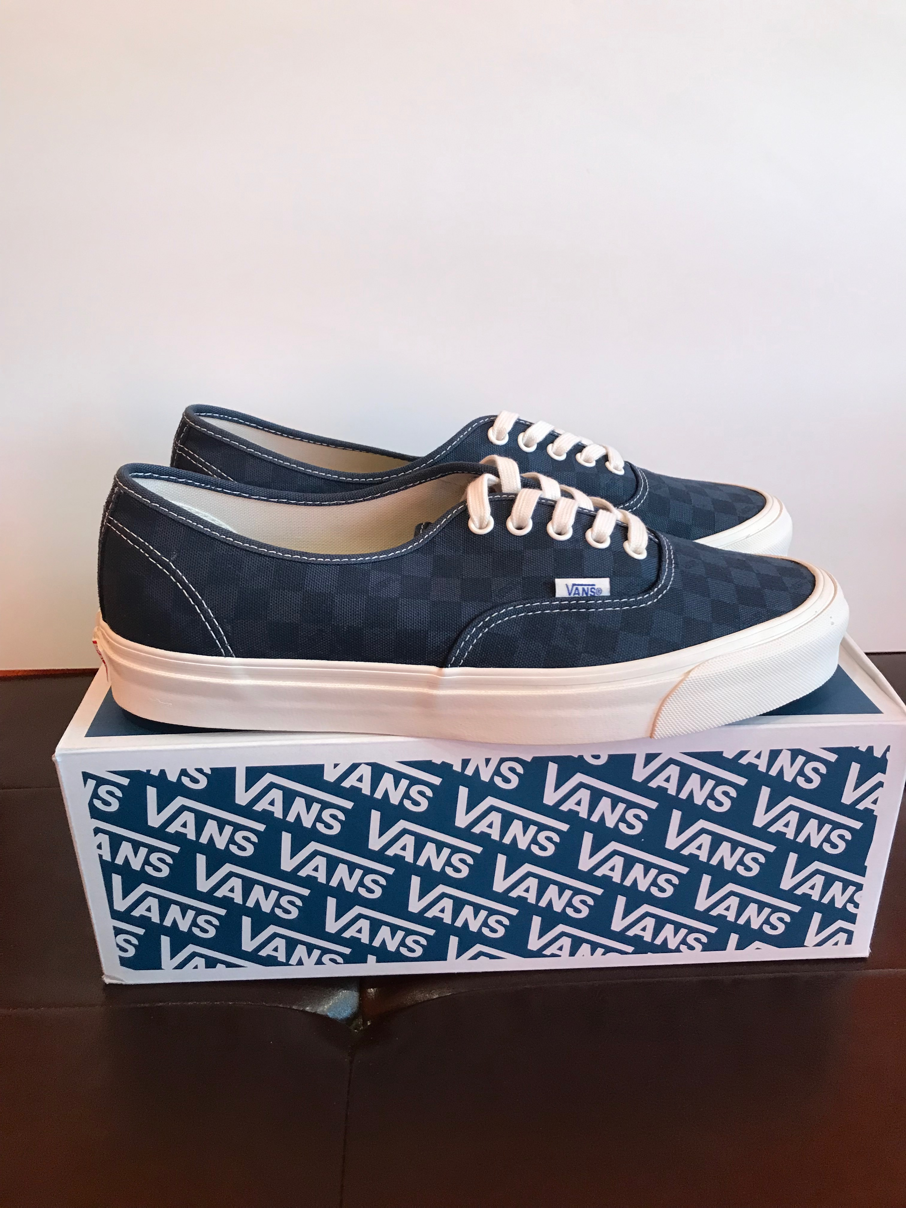 NEW Vans Vault OG Authentic Navy Checkerboard Size 12