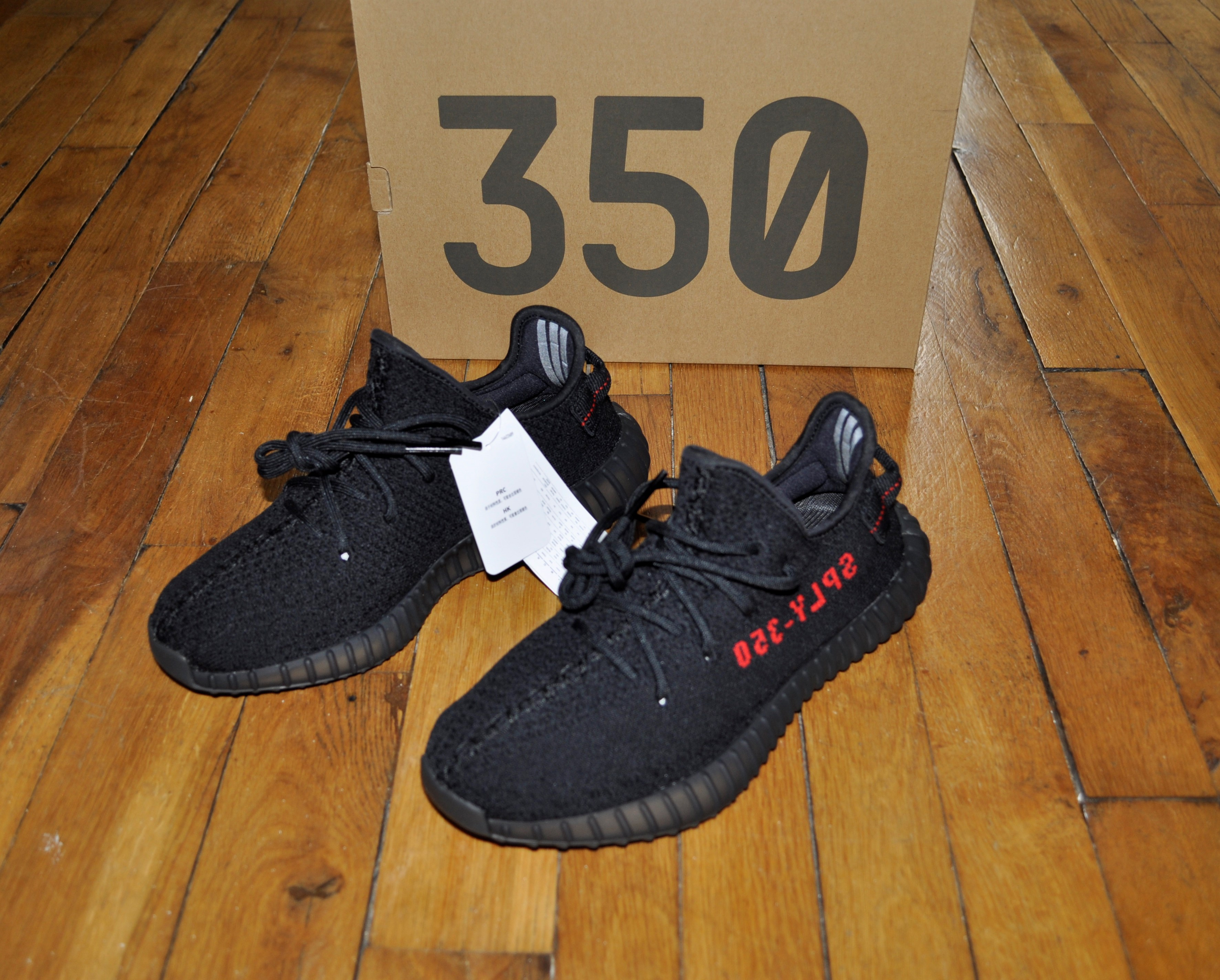 2a55106cb8f Adidas × Kanye West × Adidas Kanye West ×. Adidas Yeezy Boost 350 V2 Bred  Black Red CP9652 Size 7.5 Us 7 Uk ...
