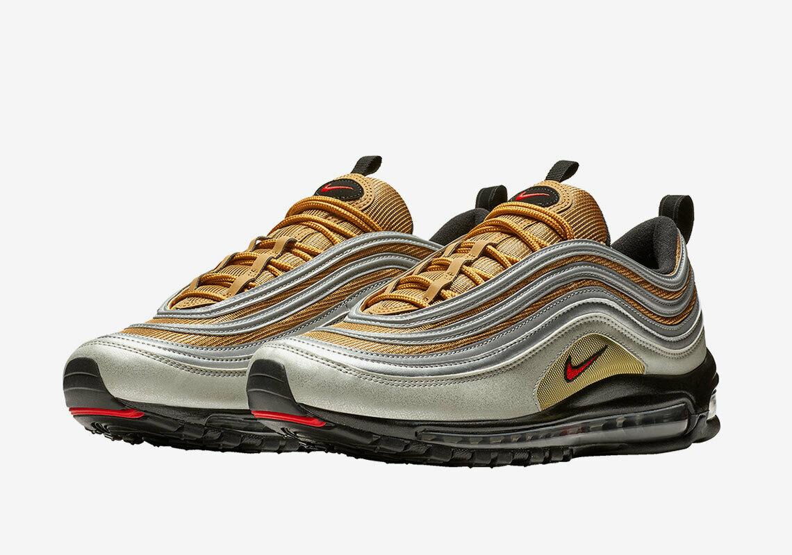 Nike Air Max 97 SSL Metallic Silver Gold US 9 EU 42.5
