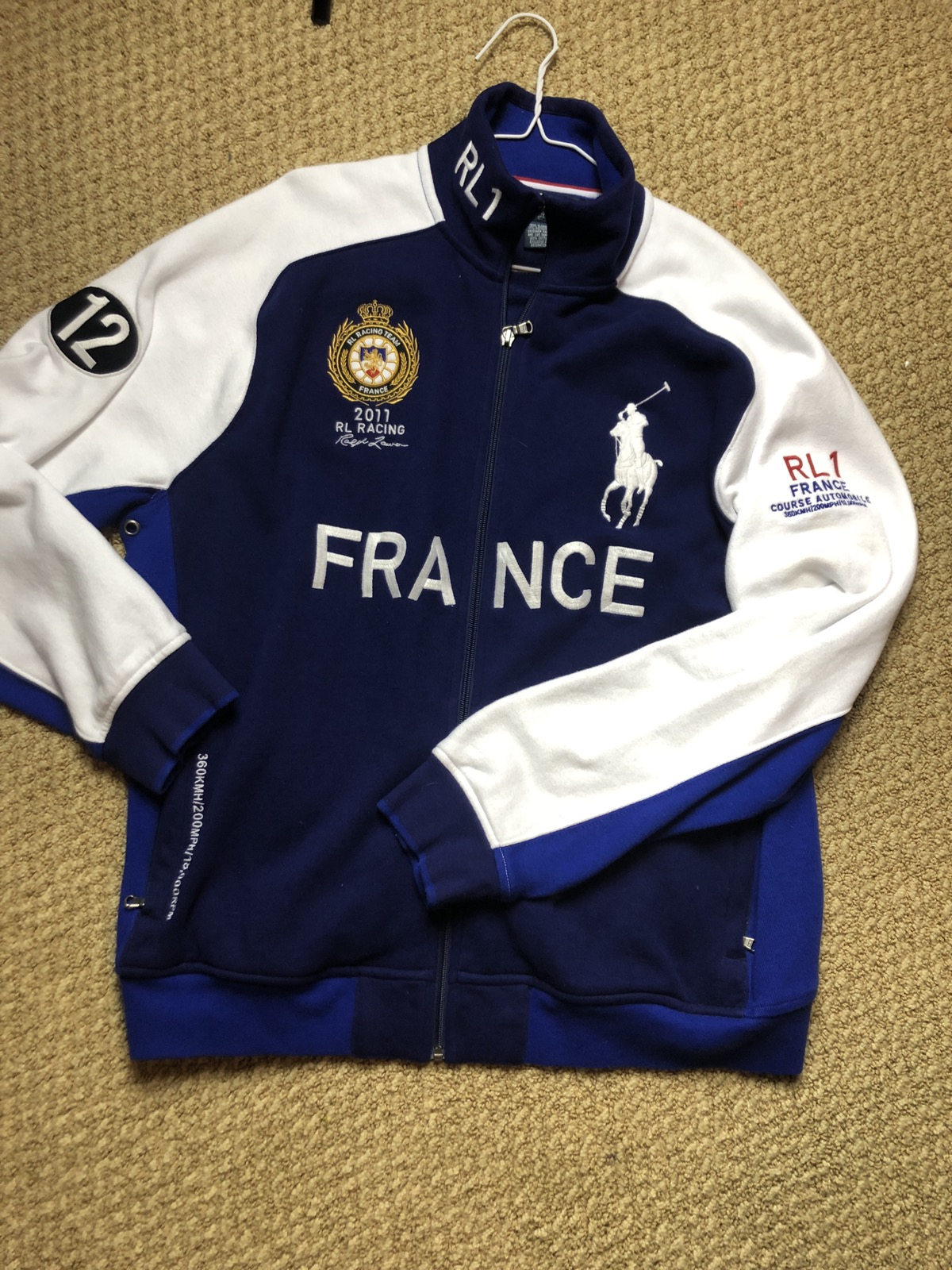 Lauren Racing 12 France Stitched Jacket Polo Ralph 5RLj34A