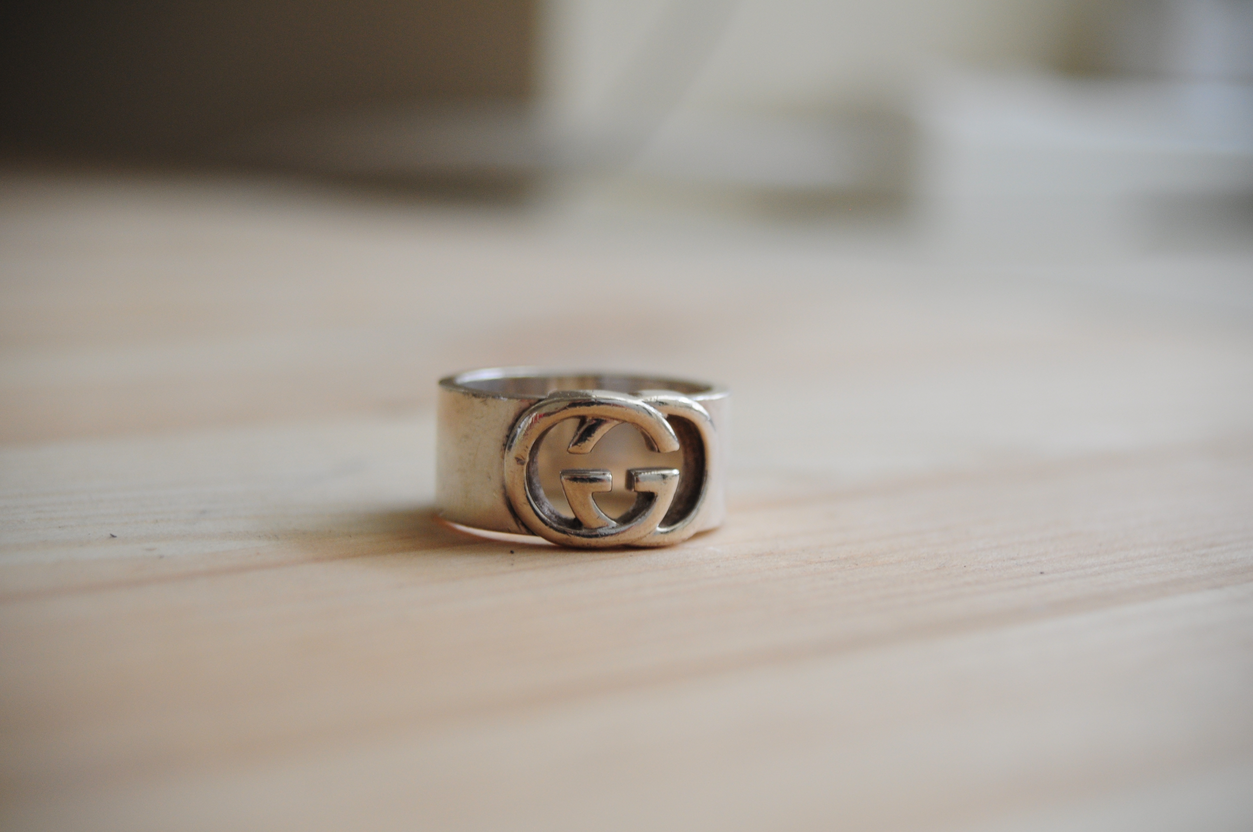 89d07d723 Gucci Silver Interlocking Double G Ring Size 8.5 *final Price ...