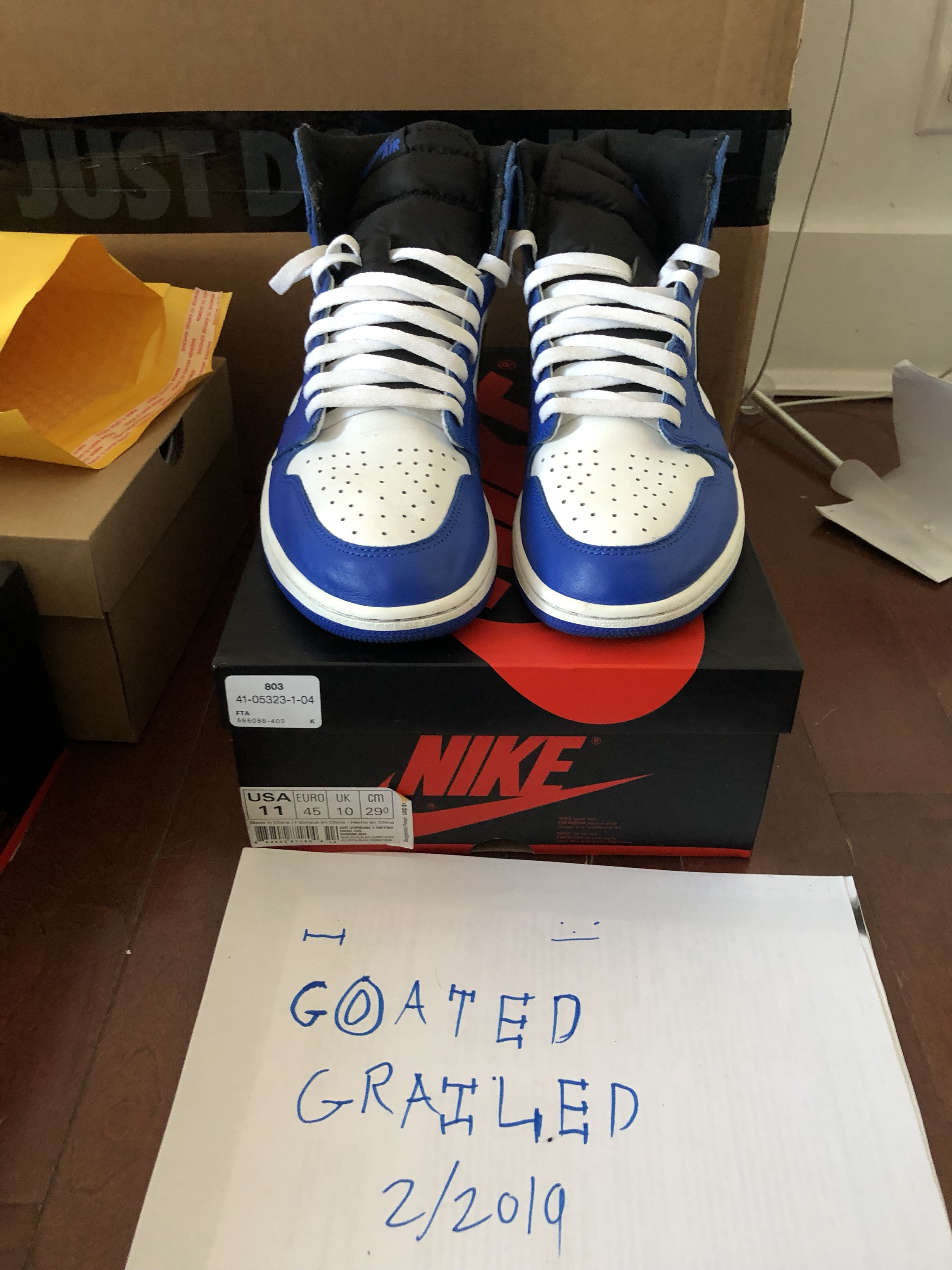 "0e13e65c83b25d Nike × Jordan Brand ×. Nike Air Jordan 1 Retro High OG ""Game Royal"" 555088  403"