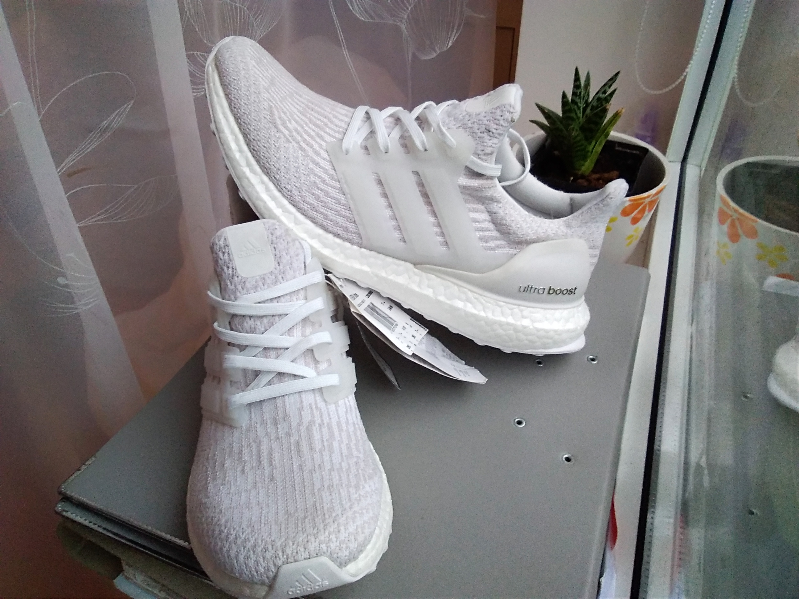 ee7003a8922ce Adidas Adidas Ultra boost 3.0 women womens girl white pearl grey under  retail Size 8.5 - Low-Top Sneakers for Sale - Grailed
