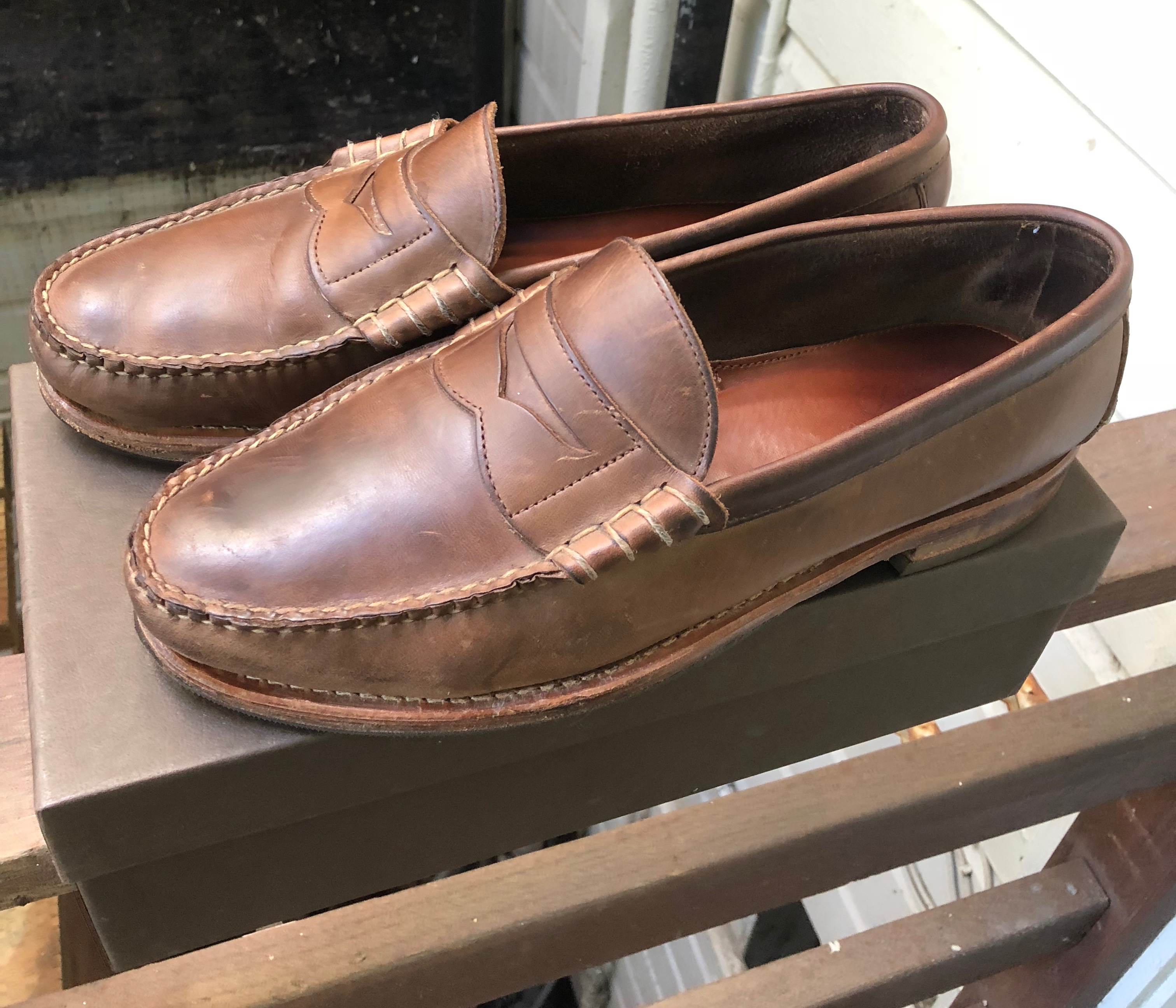 0e4aa360c7 Rancourt   Co. Beefroll Penny Loafers Size 12 - Casual Leather Shoes ...