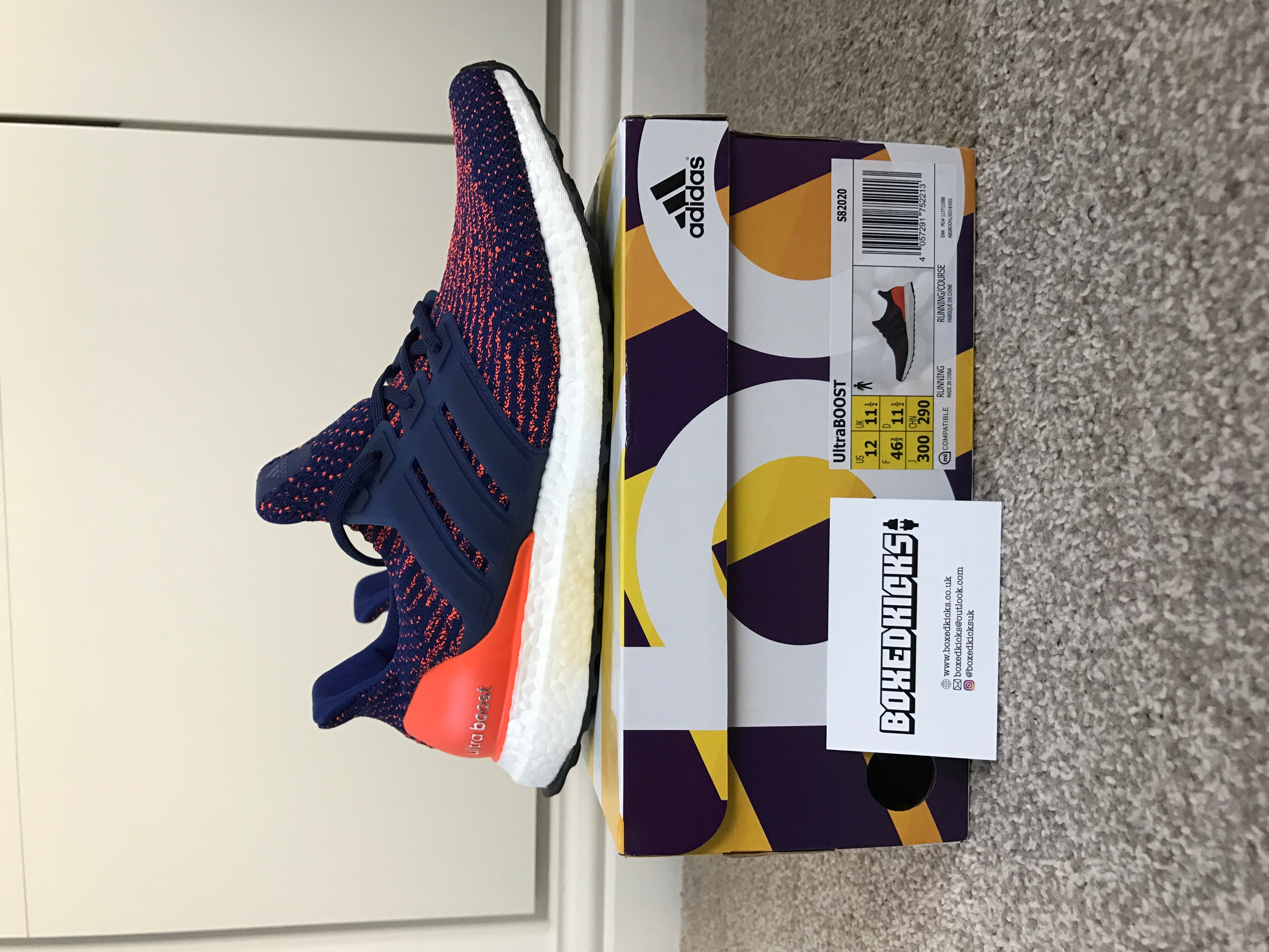 cf84a6f6dca08 Adidas Adidas Ultra Boost 3.0 Mystic Ink Mystery Solar Orange Blue Purple  UK 11.5 US 12 Size 12 - Low-Top Sneakers for Sale - Grailed