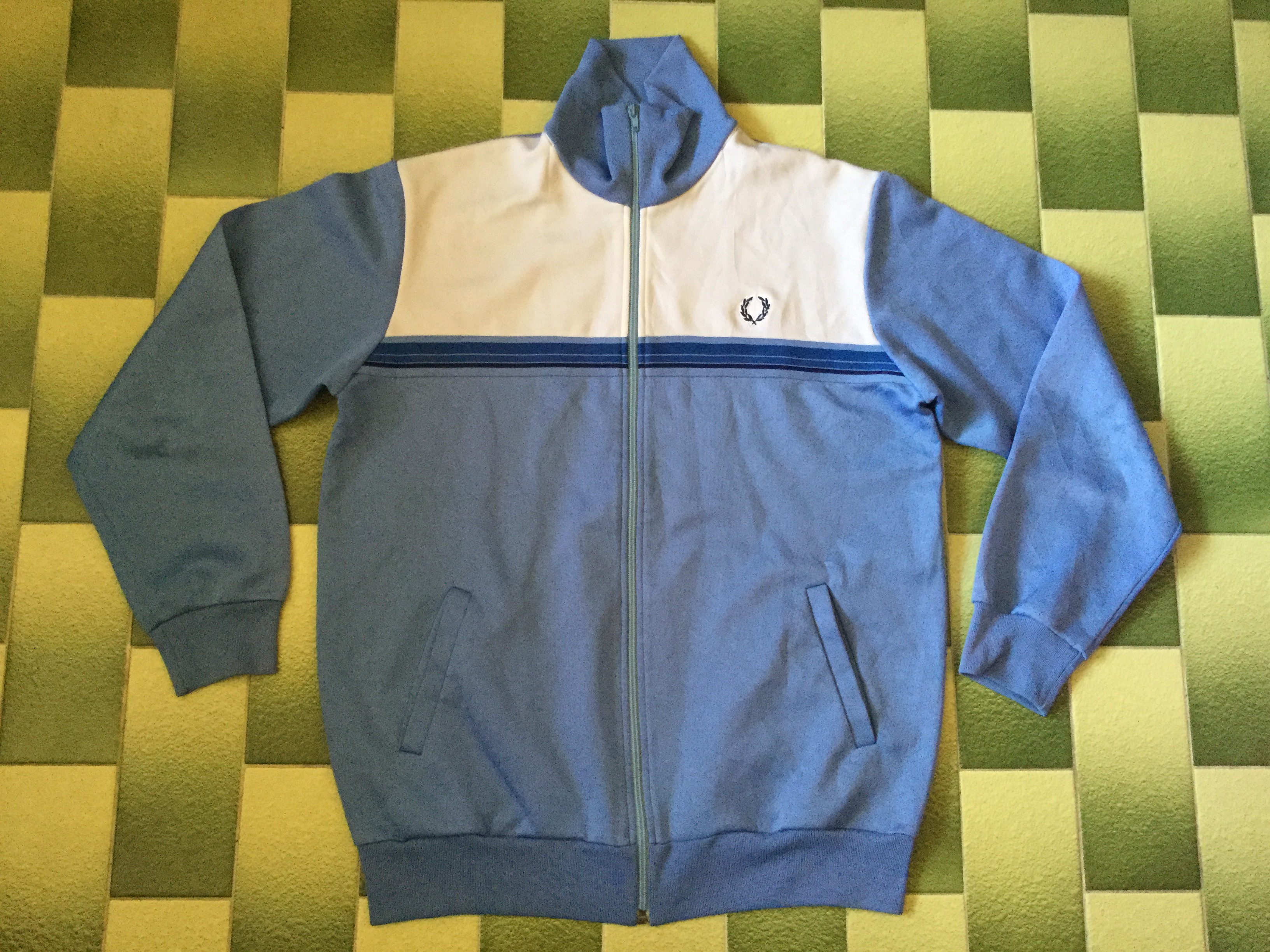 stor rea Det bästa ingen försäljningsskatt Vintage Vtg Fred Perry Track Jacket Tracktop Light Sky Blue Color ...