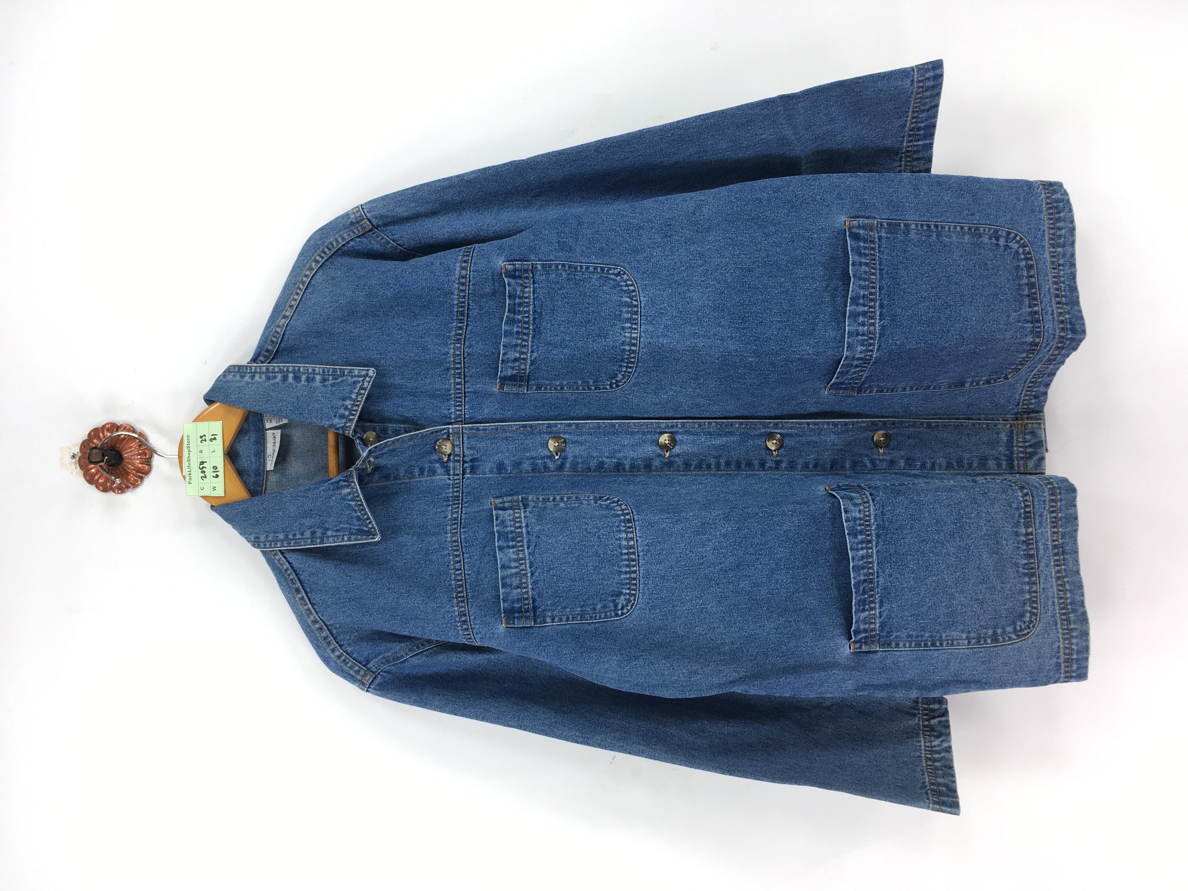 Denim Jacket 90s Workwear 90s Heavy Denim Vest with Pockets Men/'s M