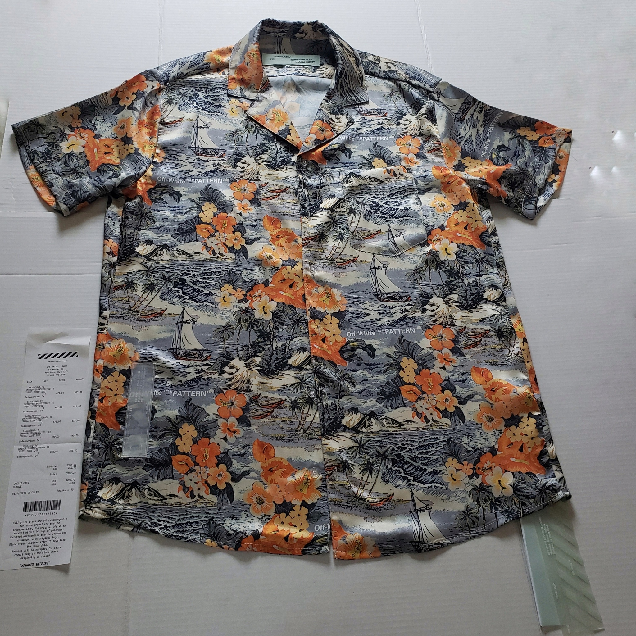 7ff56c15 Off-white Nwt Authentic Off-white Floral Hawaiian Shirt | Grailed