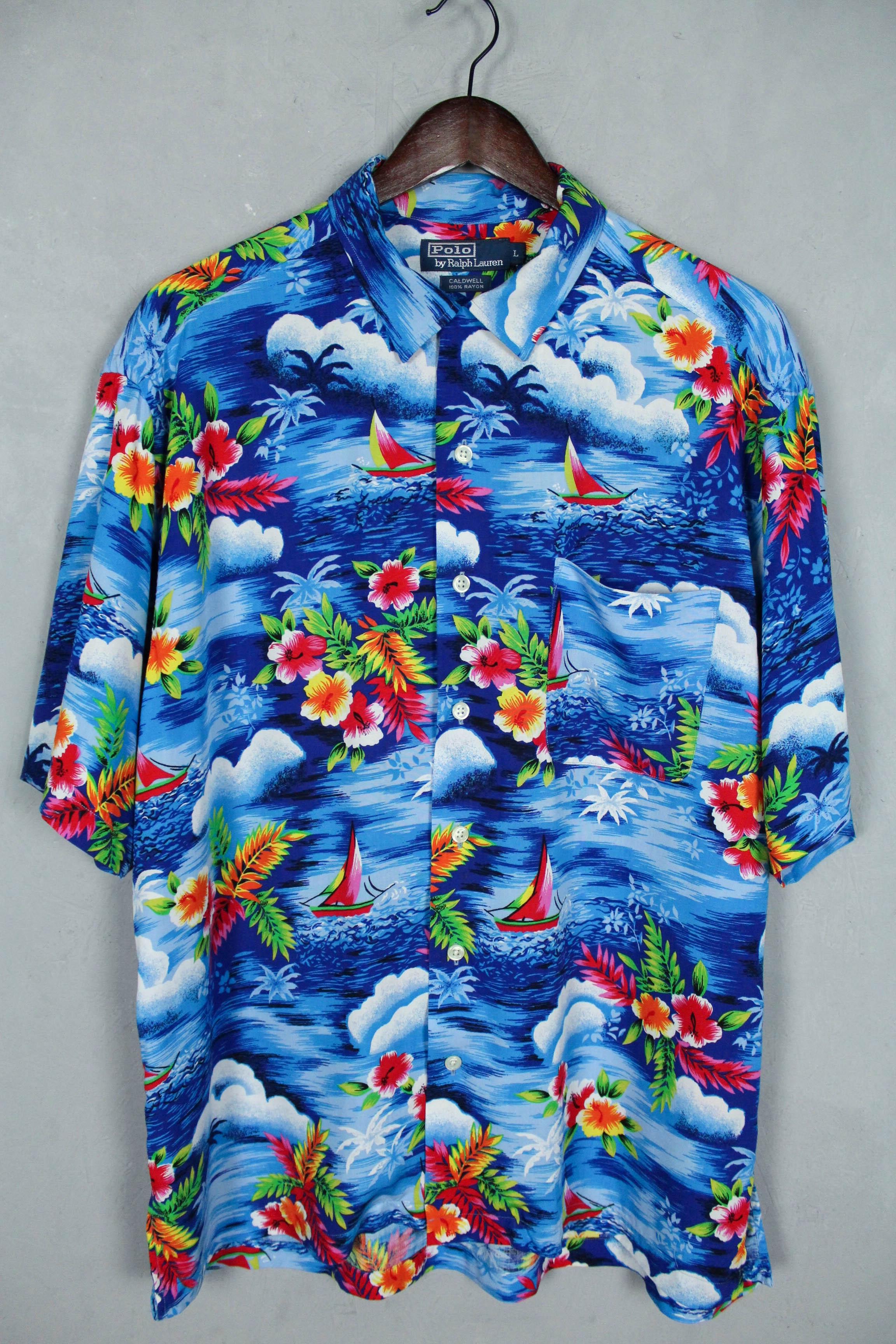 94f83e9e Ralph Lauren Polo By Ralph Lauren Vintage Hawaiian Caldwell Rayon ...