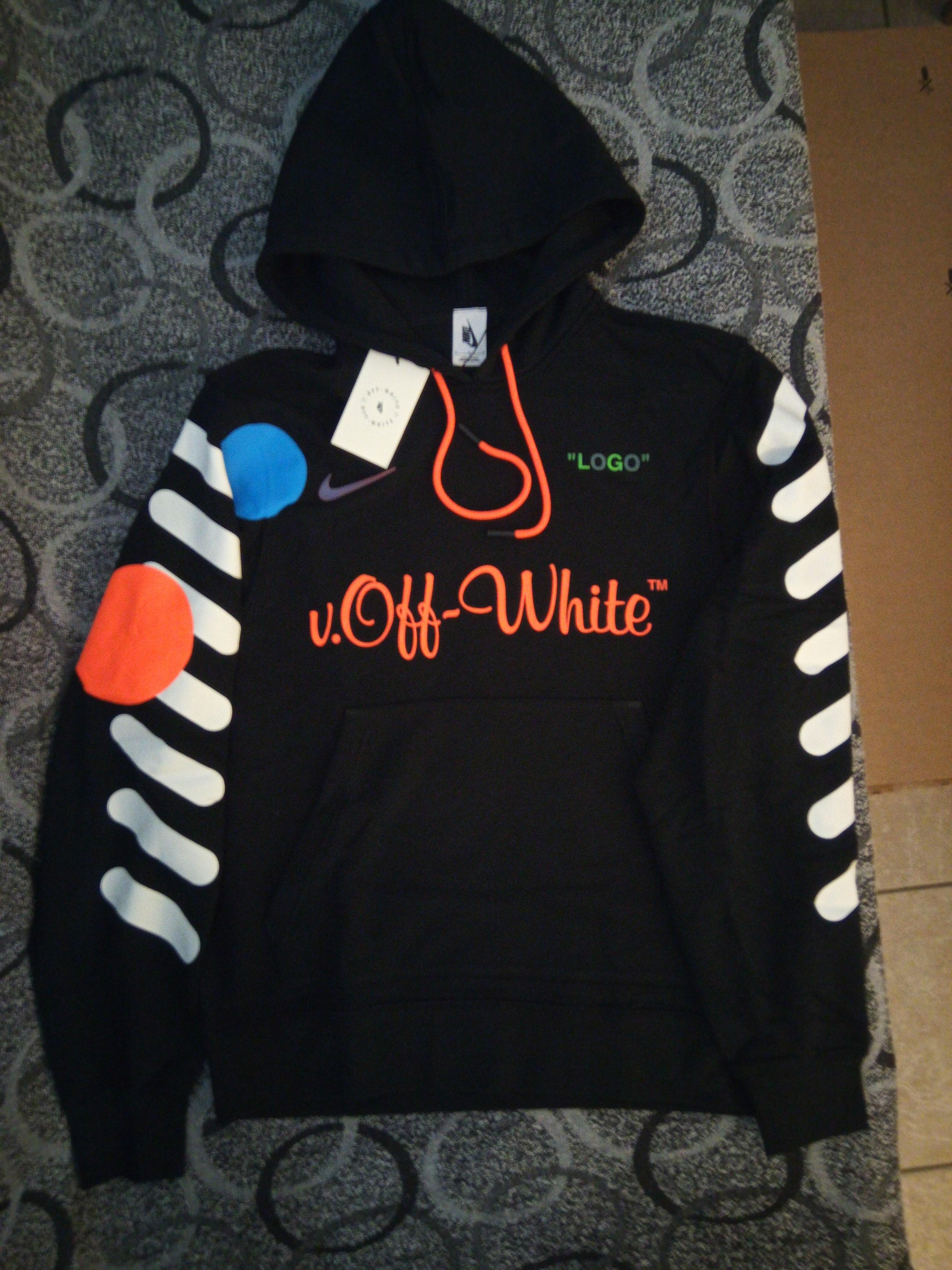 74fc7cd0100e Nike × Off-White ×. Nikelab x Off-white Mercurial Nrg x Hoodie Black ...
