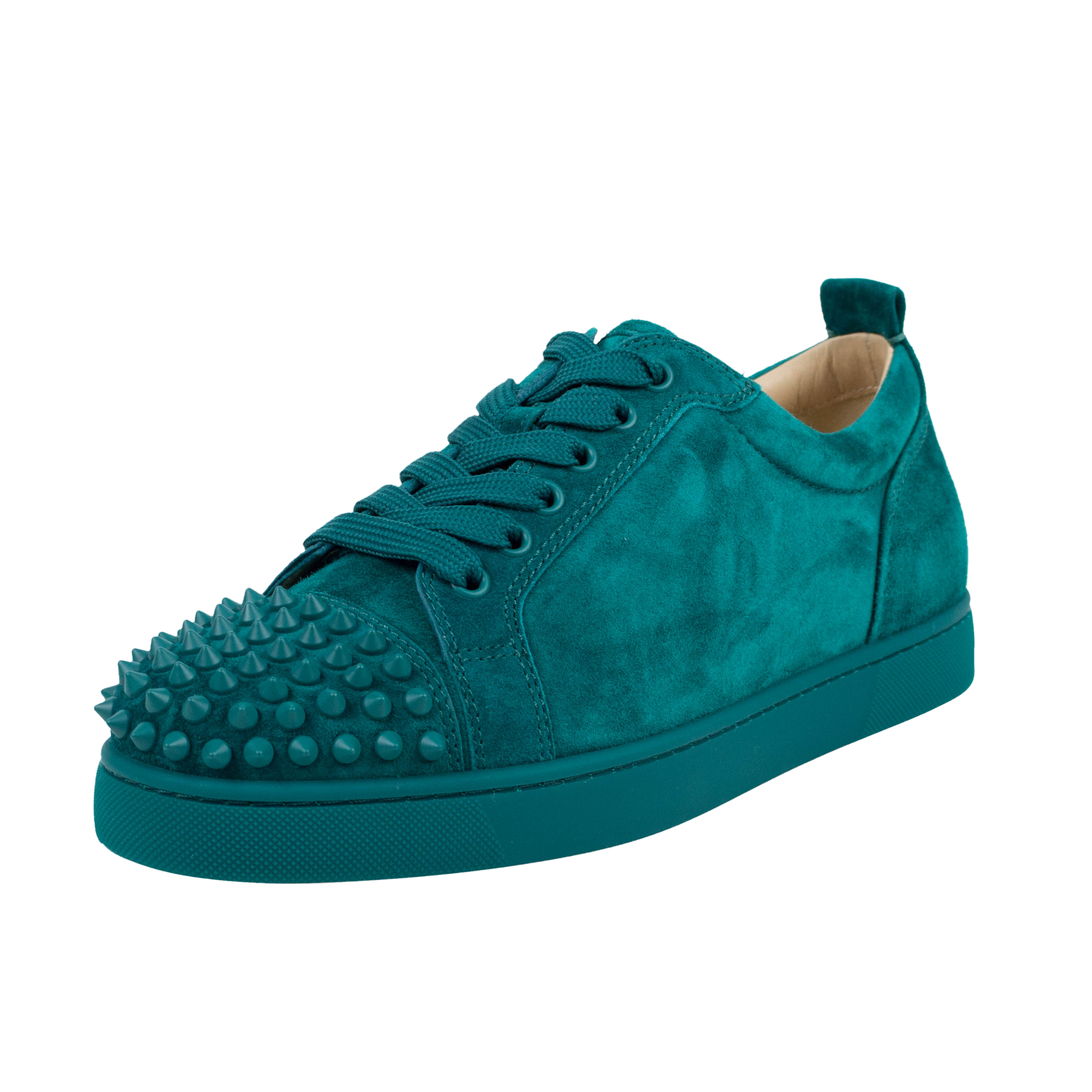 separation shoes 8ad2a 310d0 'Louis Junior' Green Spikes Suede Sneakers Shoes