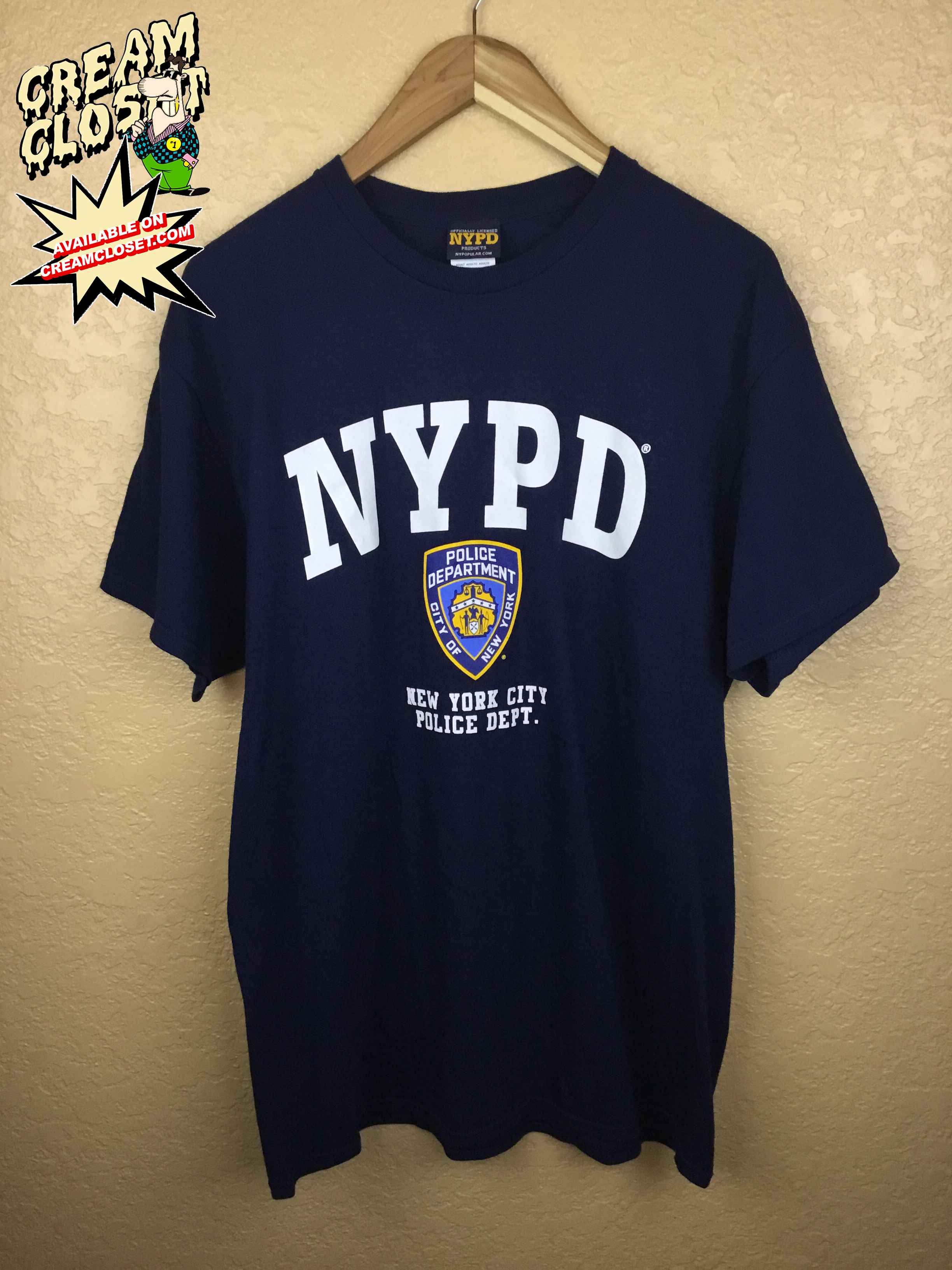 806d1a303 Vintage × !! LAST DROP !! DELETING IN 2 HOURS !! NYPD NEW YORK POLICE  DEPARTMENT BIG EMBLEM LOGO IN NAVY BLUE