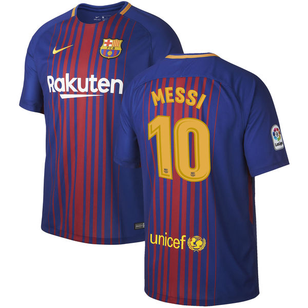 bcaec89ad Nike New Barcelona Messi Home Player Soccer Nike Jersey Sizes Available (s