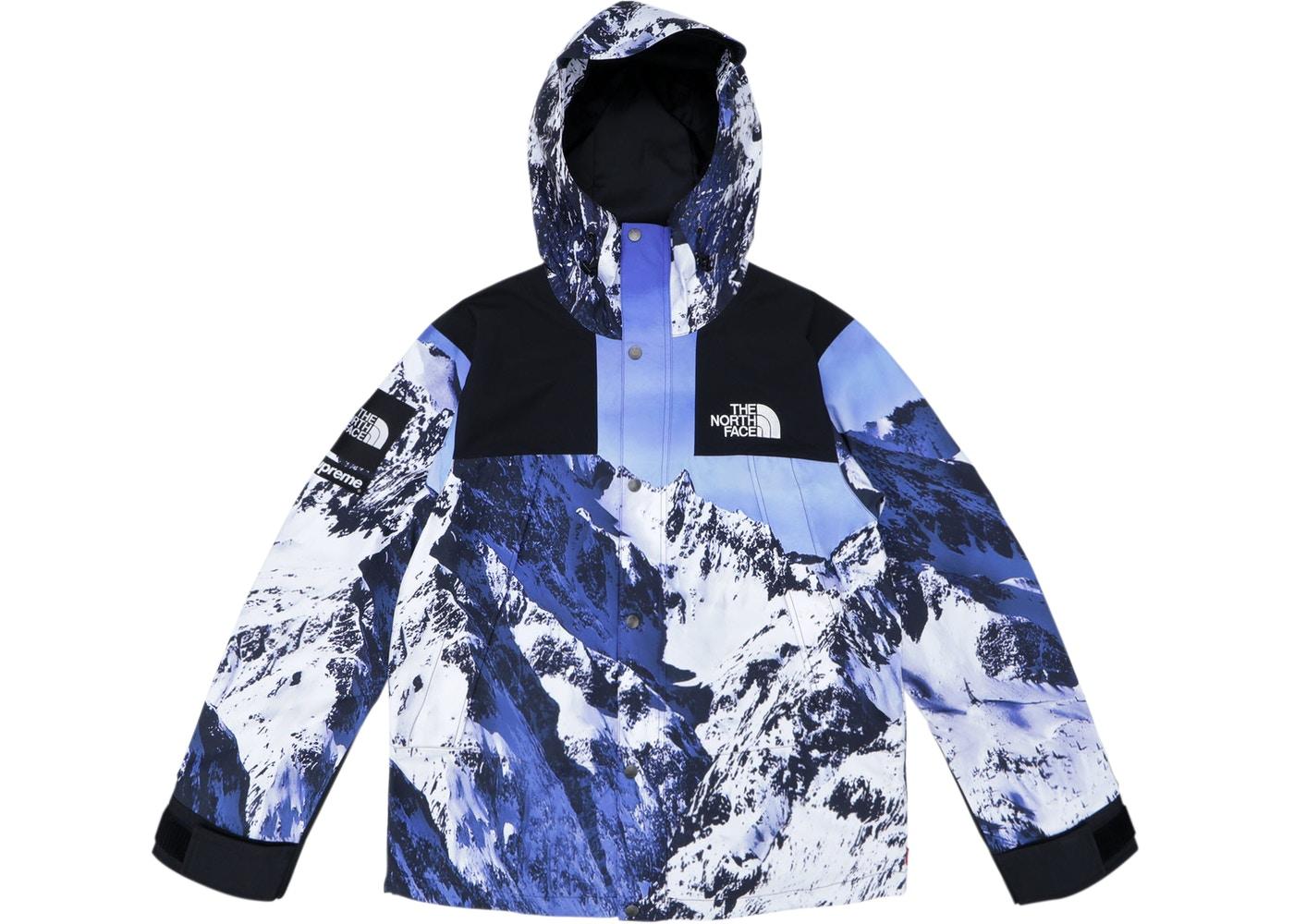 c5532f616 2017 fw tnf snow mountain parka windbreaker jacket blue white black box  logo bogo size m
