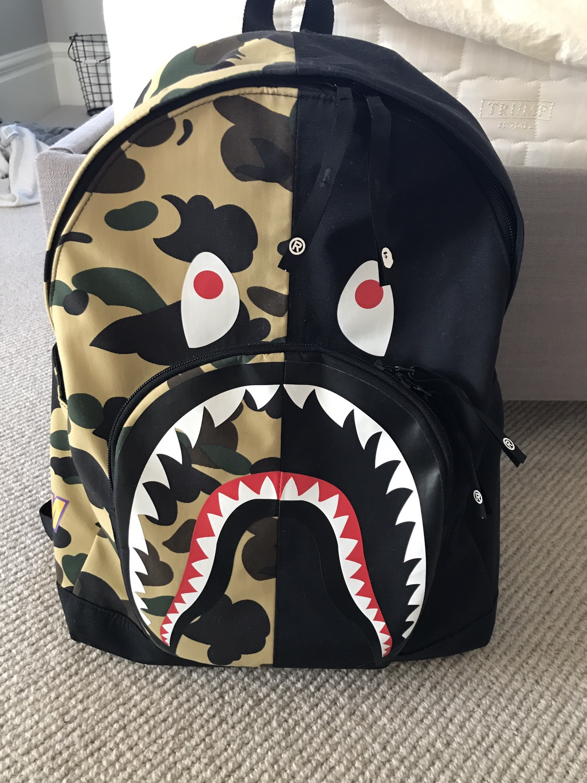 Bape Shark Backpack >> Bape Bape Shark Backpack Grailed