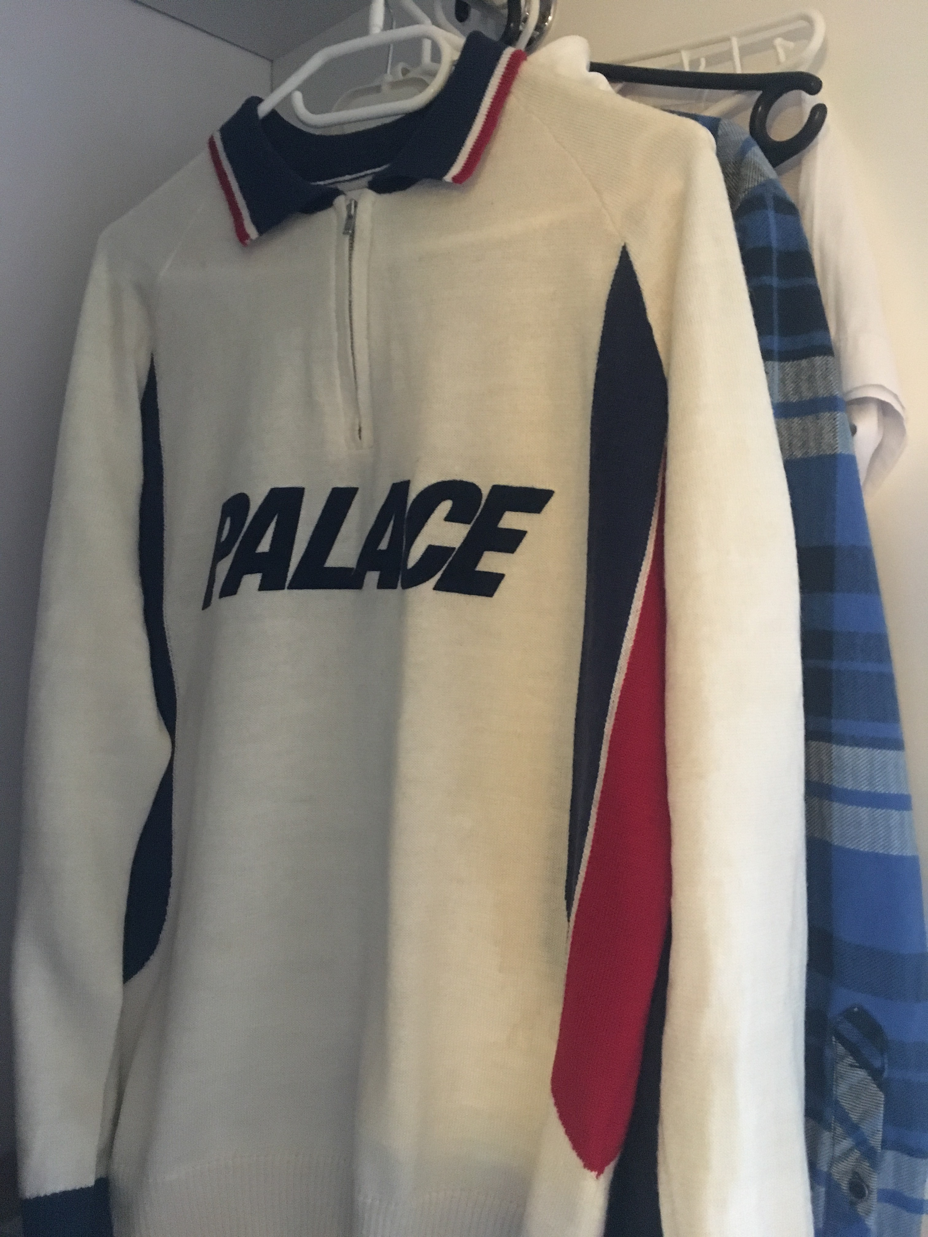 aaf37331 Palace Palace Polo Zip Knit | Grailed