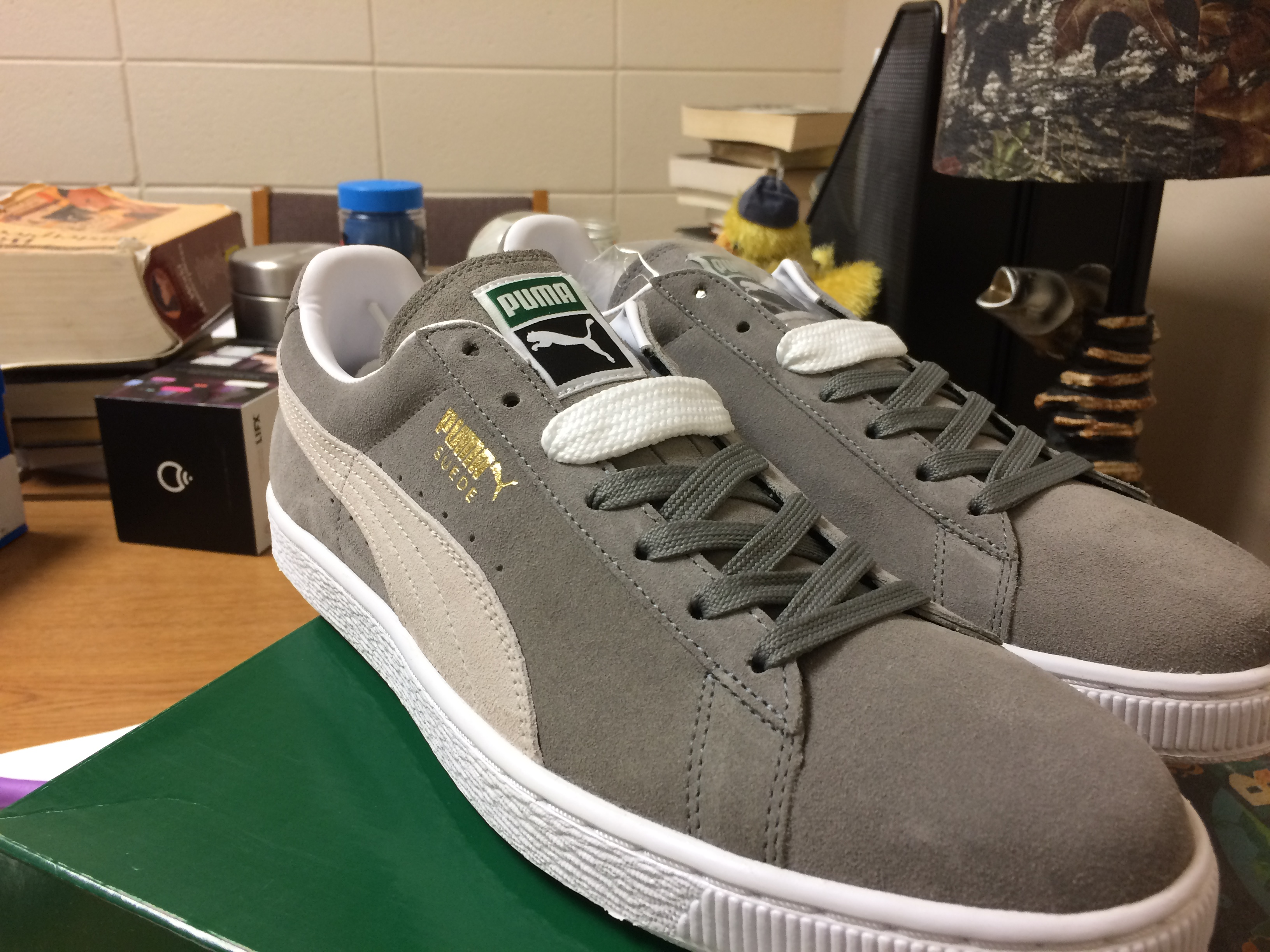 detailed look 9d137 a06a5 Suede (Steeple Grey/White) Size 11