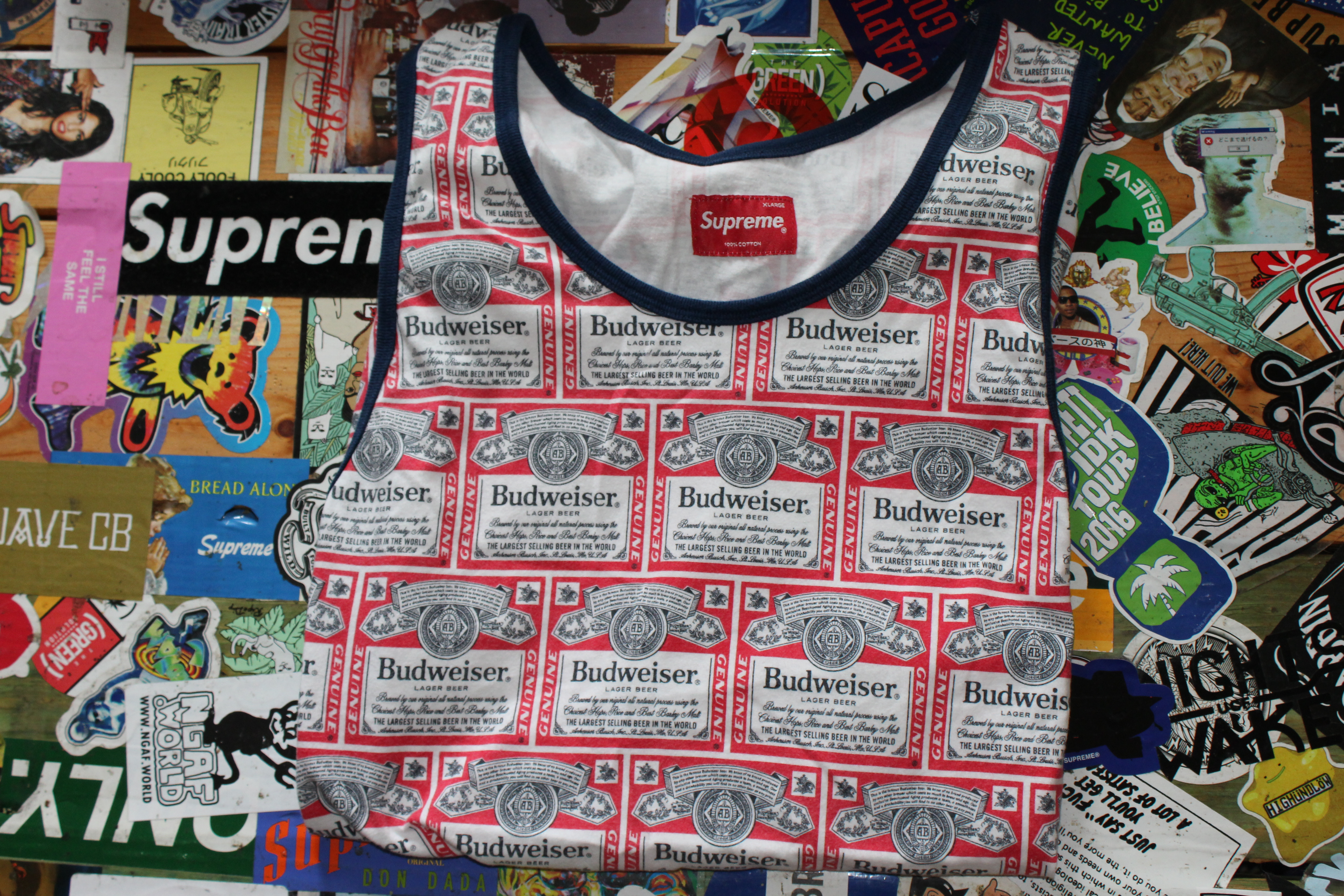 10aee41c714 Supreme Budweiser Tank Size xl - Tank Tops   Sleeveless for Sale - Grailed