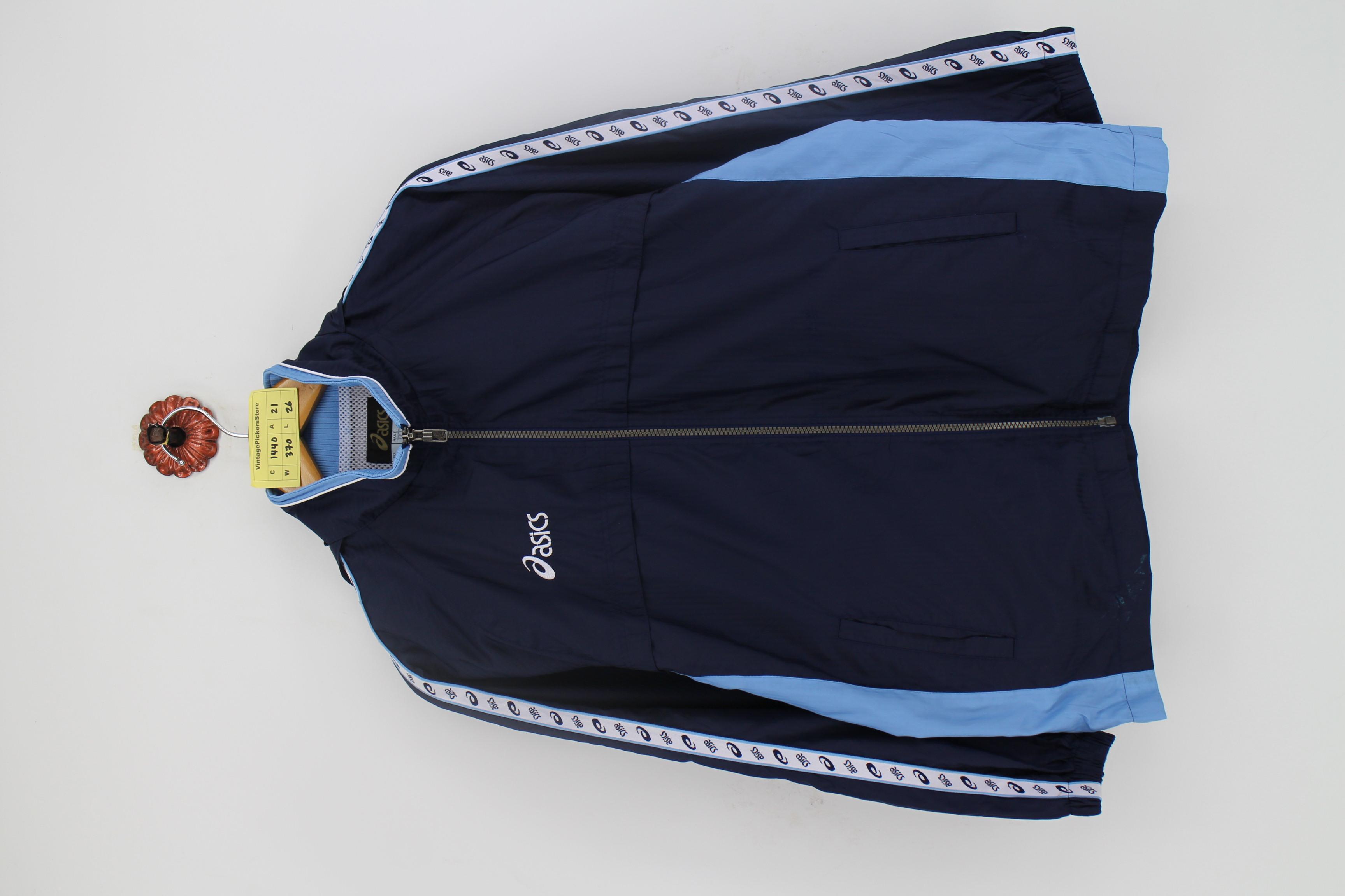 Asics Vintage 90's ASICS Japan Windbreaker Jacket Unisex Size M