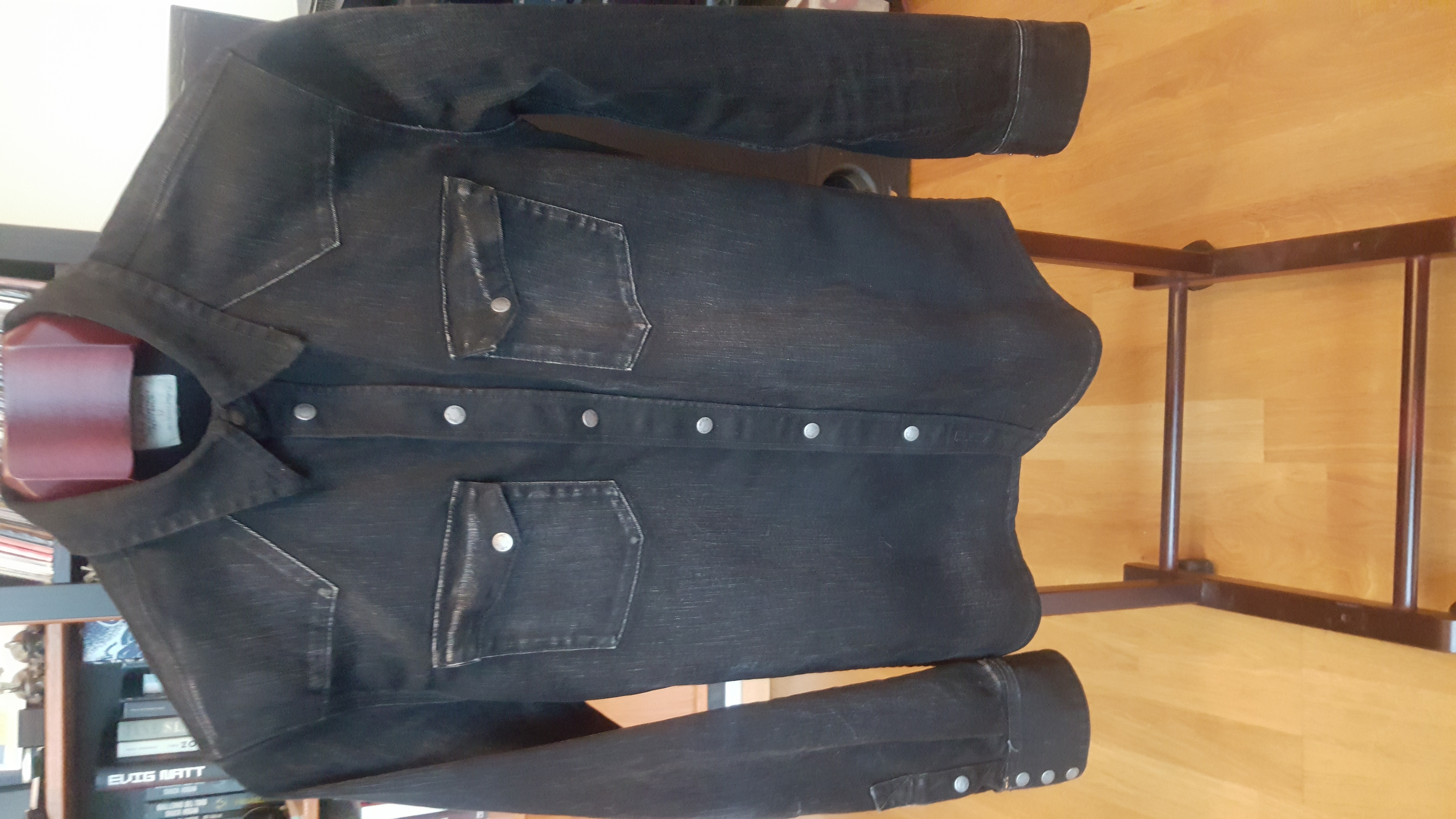 5554d823e0 Nudie Jeans Jonis Black distressed denim shirt. Size m - Shirts (Button  Ups) for Sale - Grailed