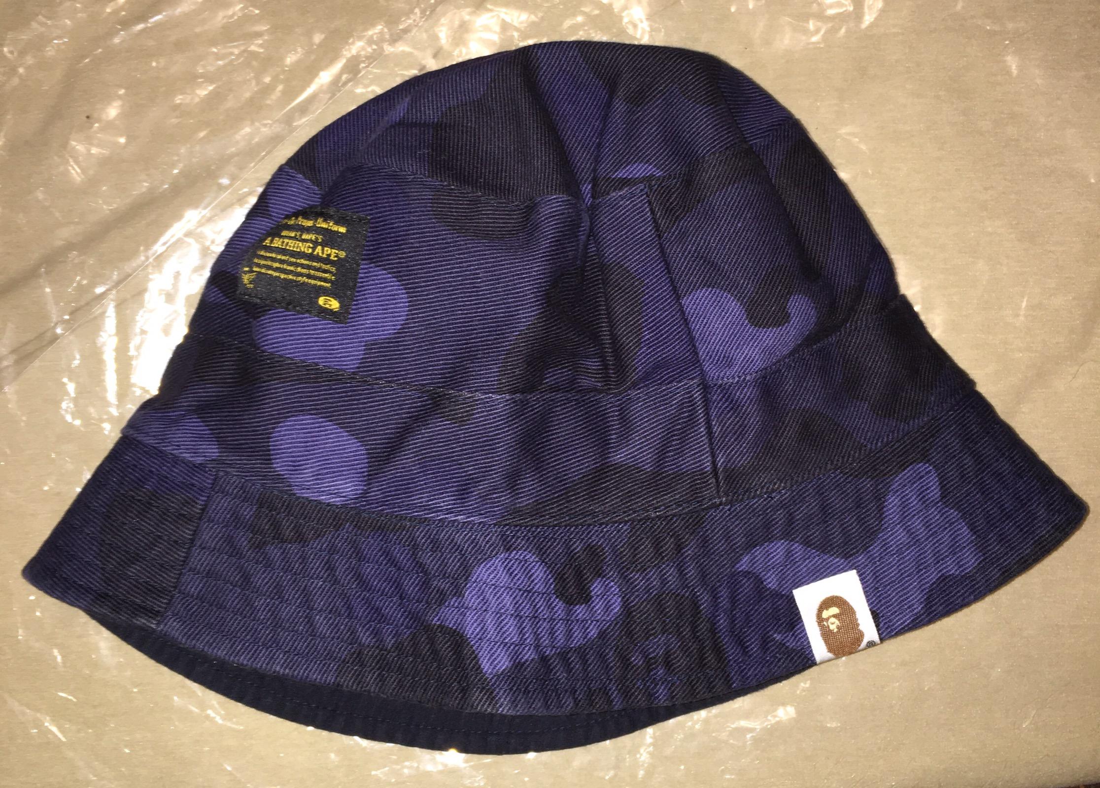 1295c6f7 Bape Bape Blue Camo Reversible Bucket Hat | Grailed