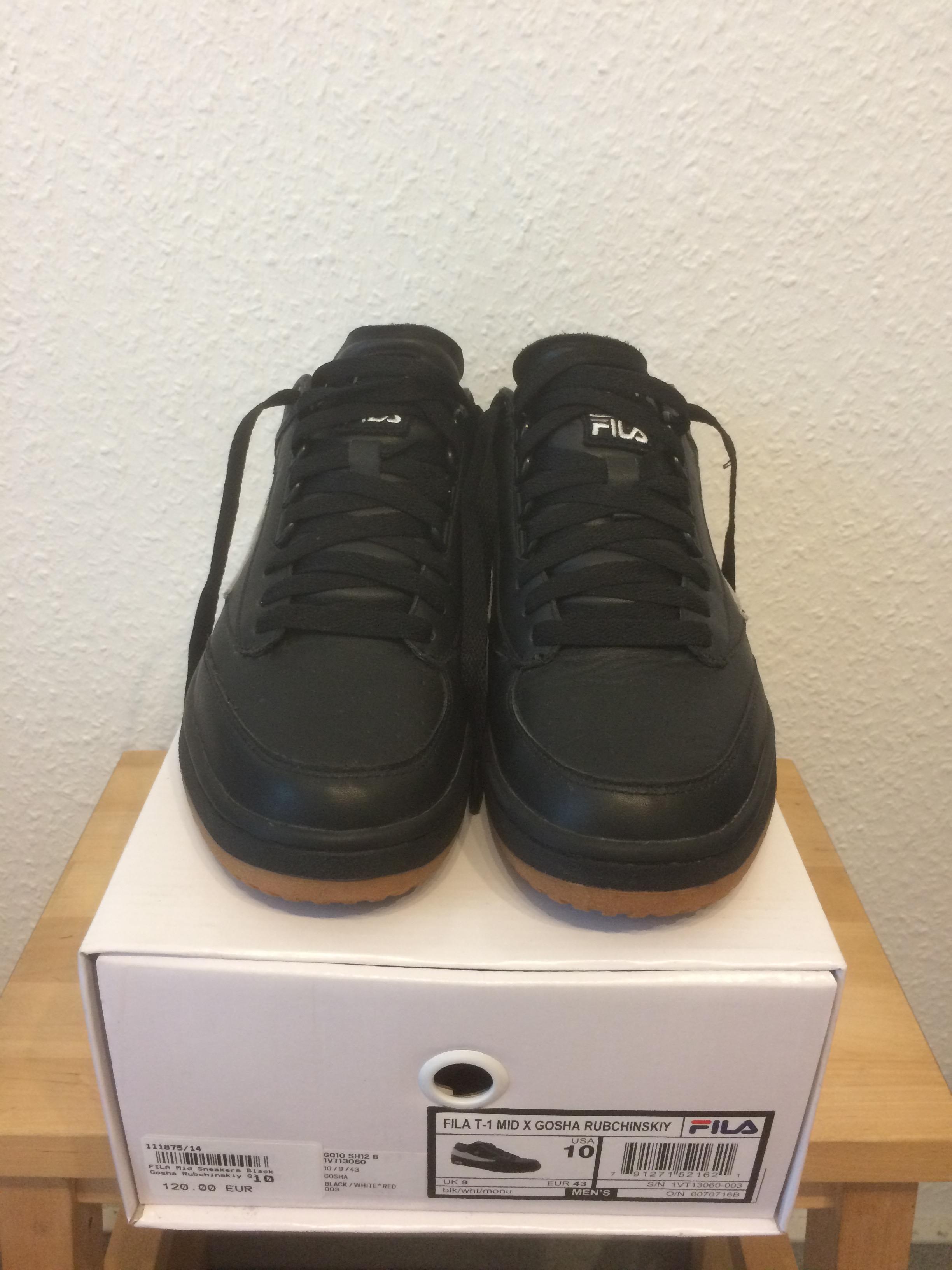 Gosha Rubchinskiy x Fila T 1 Mid Sneakers BlackWhite