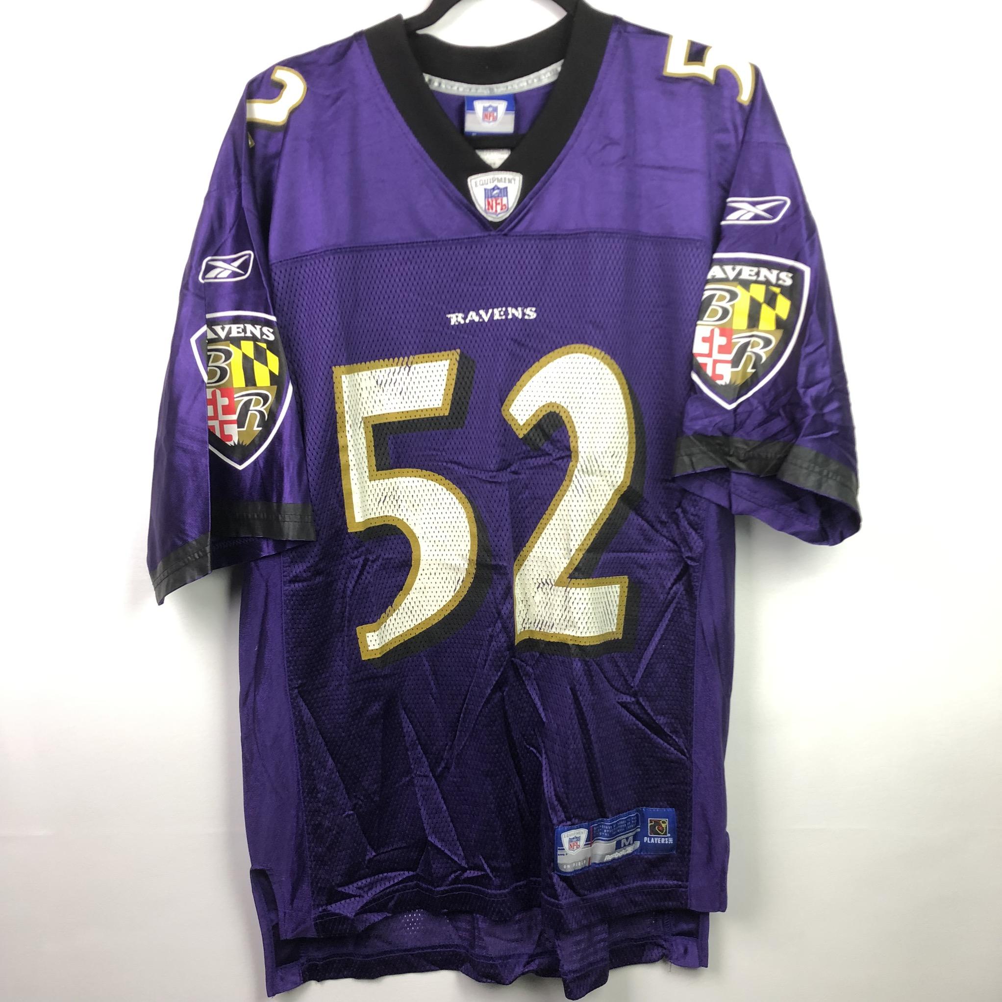 Reebok Reebok Baltimore Ravens Ray Lewis Jersey NFL On Field #52