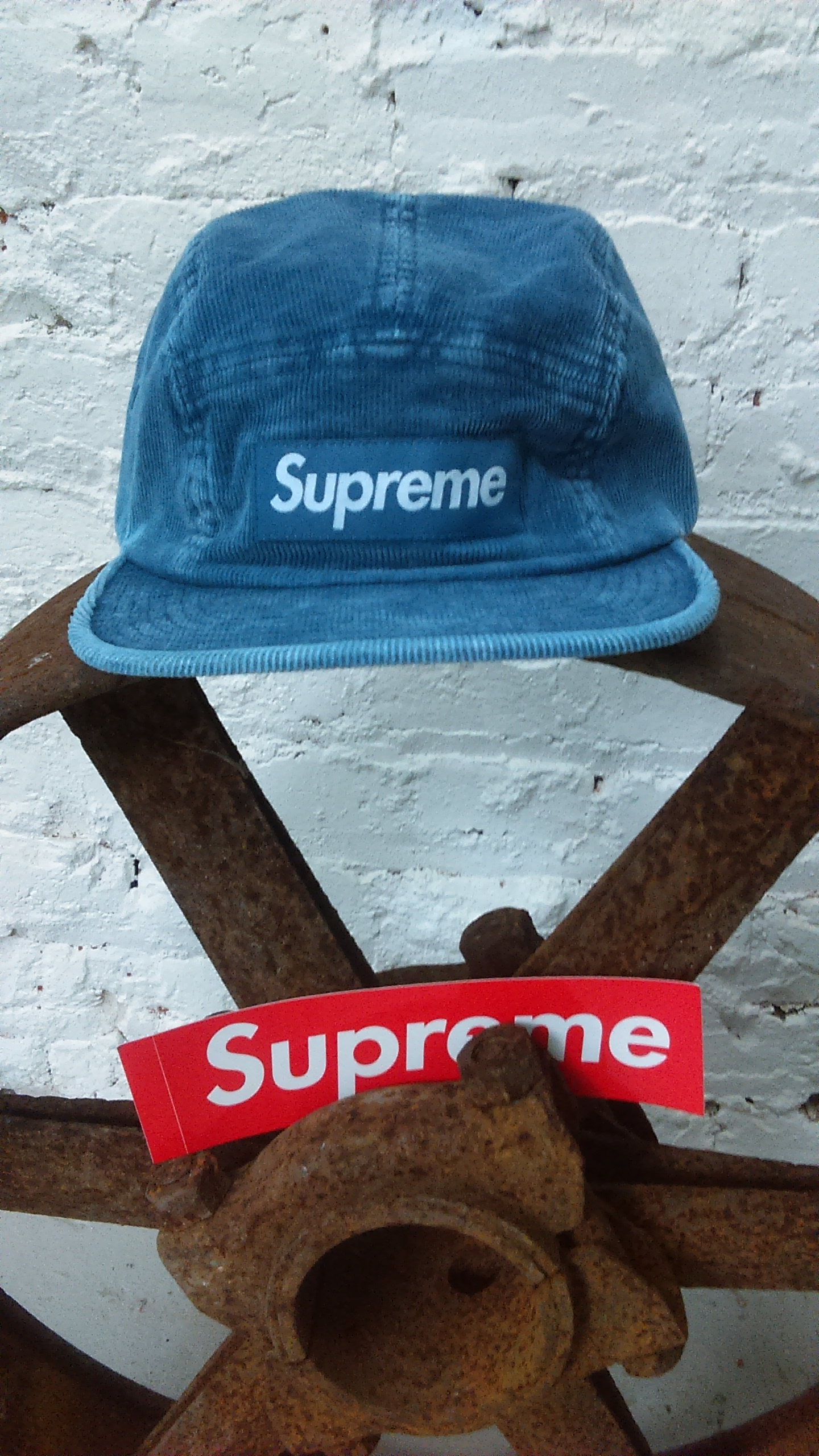 4dbe774e713 Supreme Supreme SS16 Corduroy Camp Cap Blue Box Logo Hat Motion Classic  5-panel S Royal Size one size - Hats for Sale - Grailed