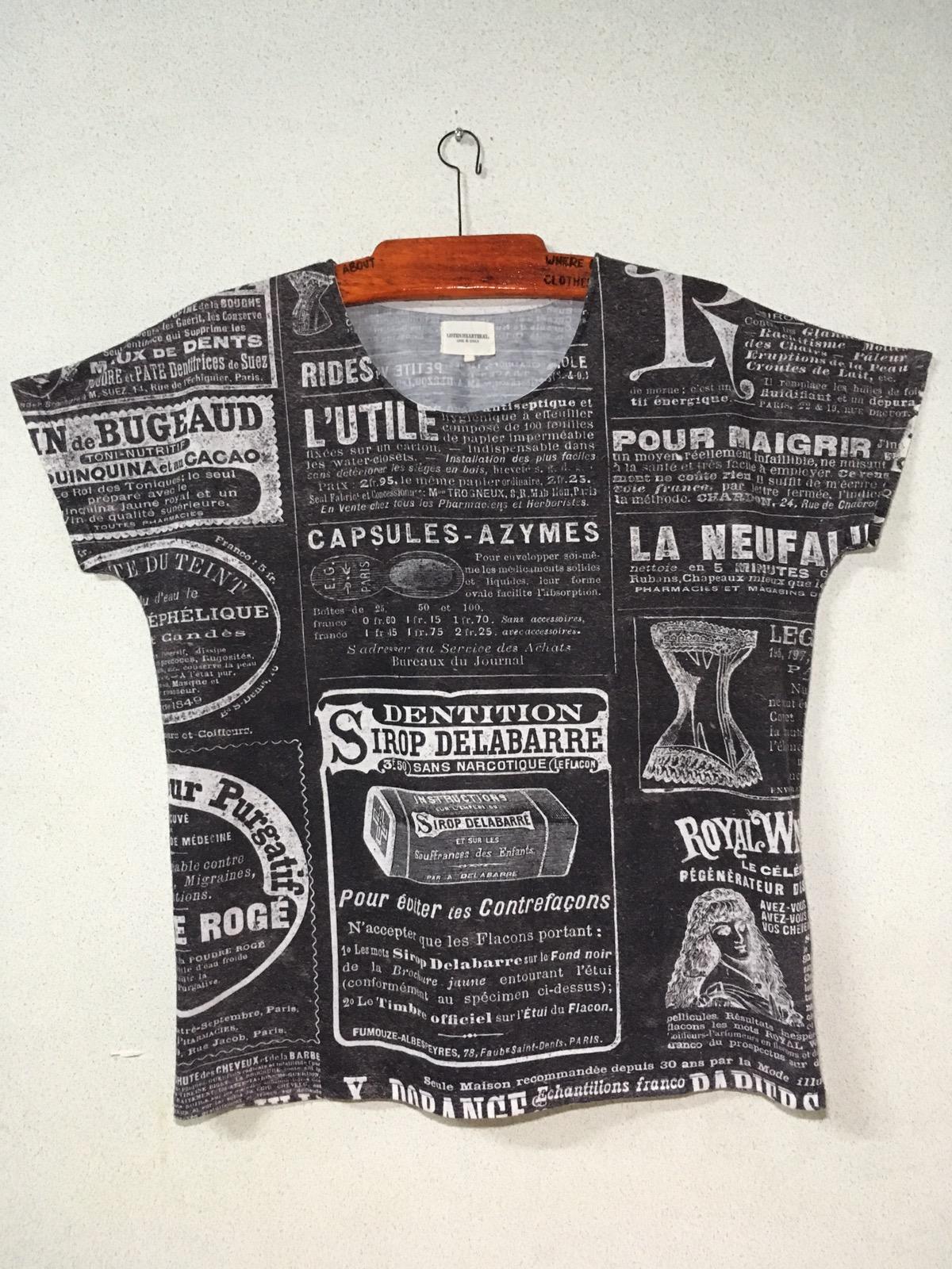 Vintage Listen Heart Beat All Over Printed Full Print Tshirt