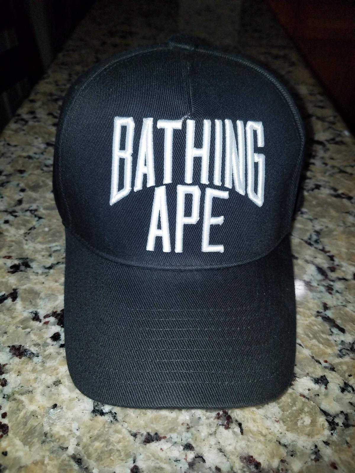 522c00c2966d9 Bape A Bathing Ape Nyc Logo World Gone Mad Snapback Cap Camo Undervisor  Black