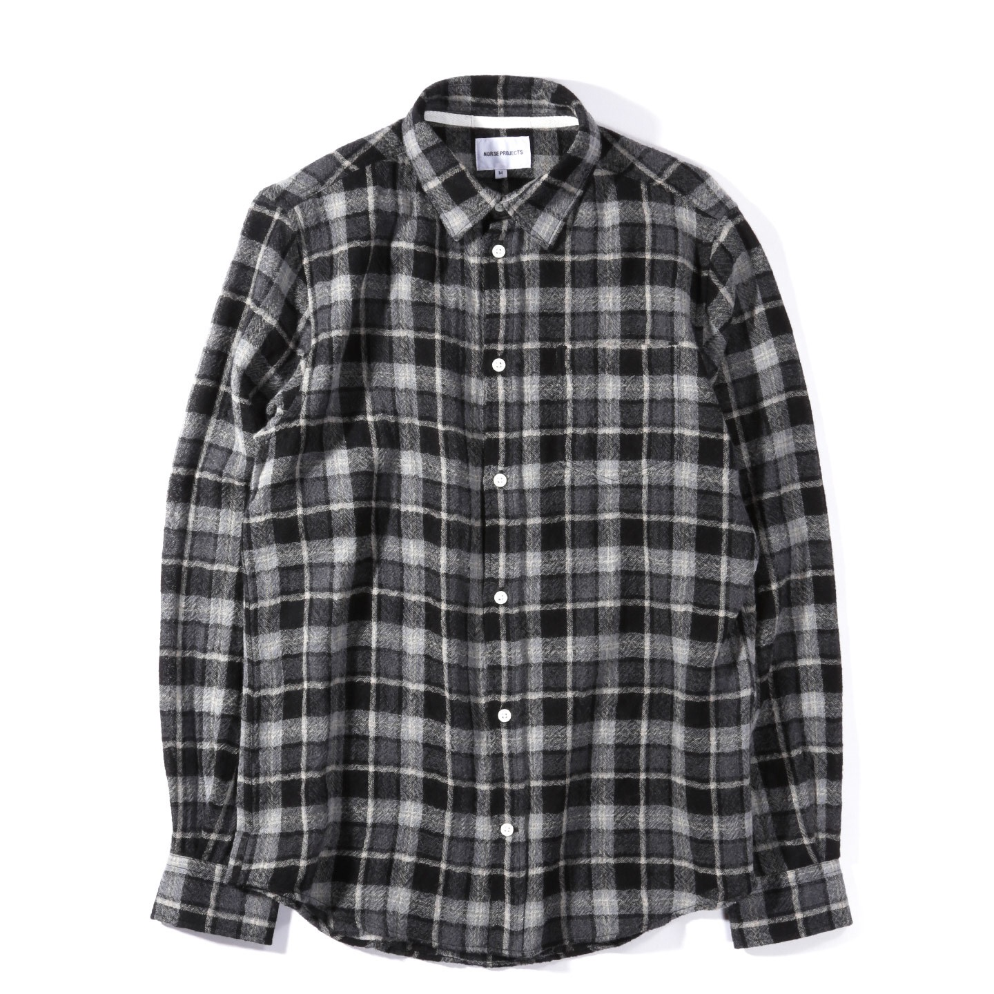 44b93db6a Norse Projects Anton Loose Weave Gauze Mouse Grey Flannel Button Shirt Size  l - Shirts (Button Ups) for Sale - Grailed