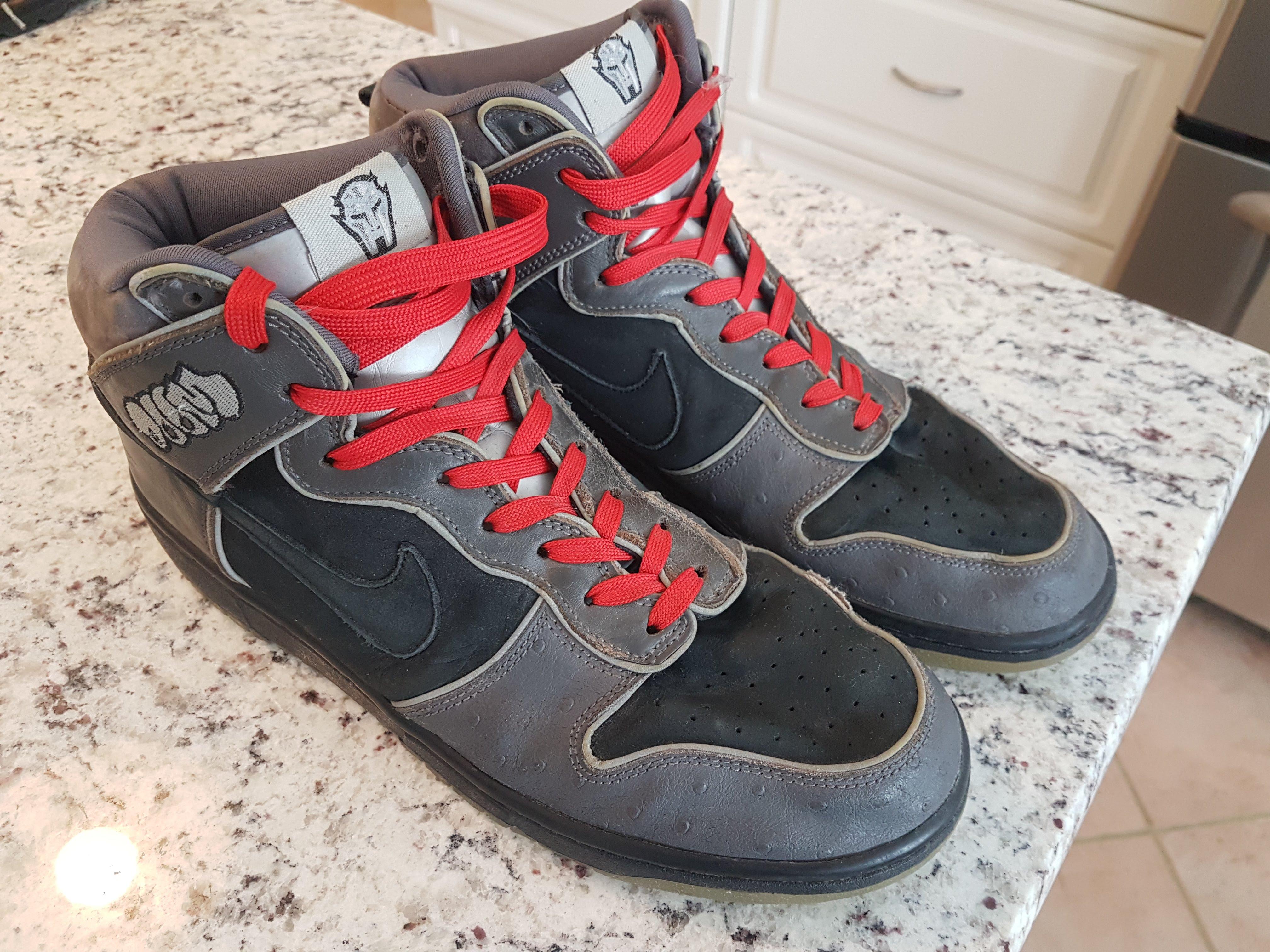 official photos f25f9 e6bff Nike SB Dunk High MF Doom
