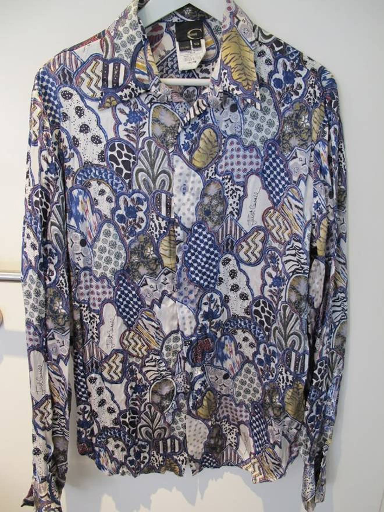 Just Cavalli Cavalli Silk Floral Print Shirt Size M Shirts Button
