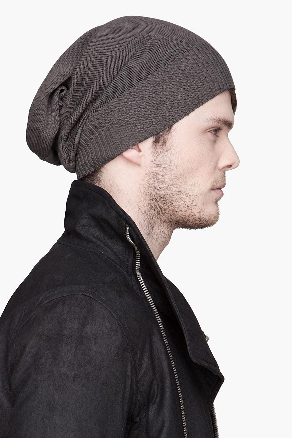 67525e05a03b4 Rick Owens BNWT PLINTH MERINO BEANIE Size one size - Hats for Sale - Grailed