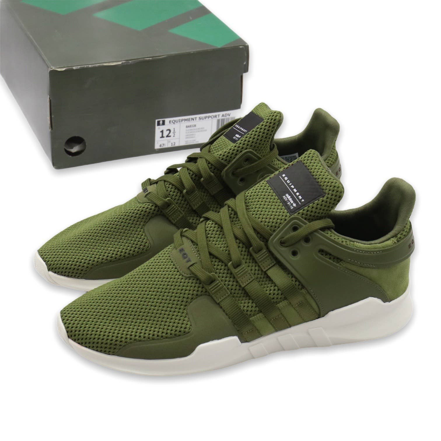 DS Adidas EQT Support ADV Olive Cargo Earth Green 12
