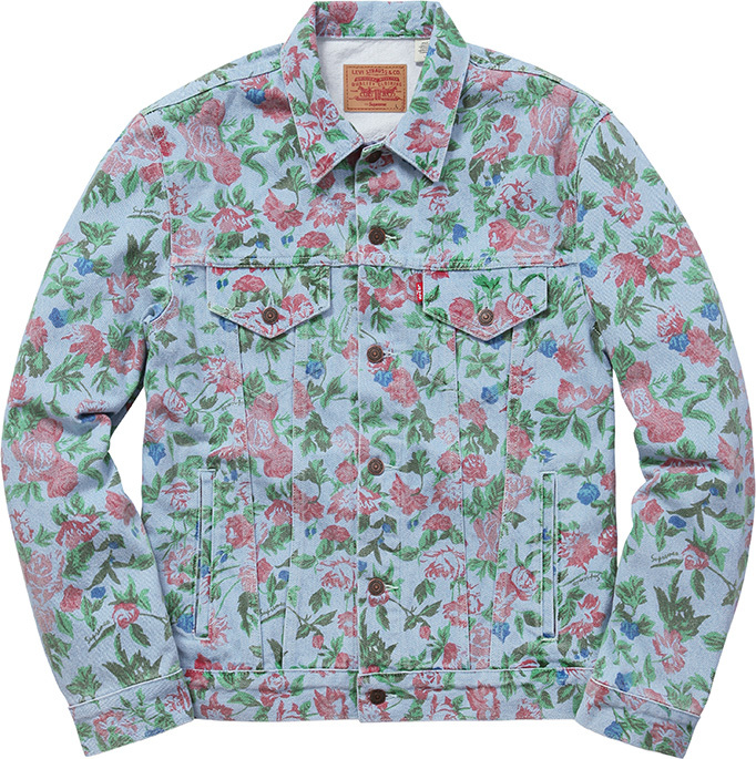 cdbff5c6871e Supreme Roses Trucker Jacket Size m - Denim Jackets for Sale - Grailed