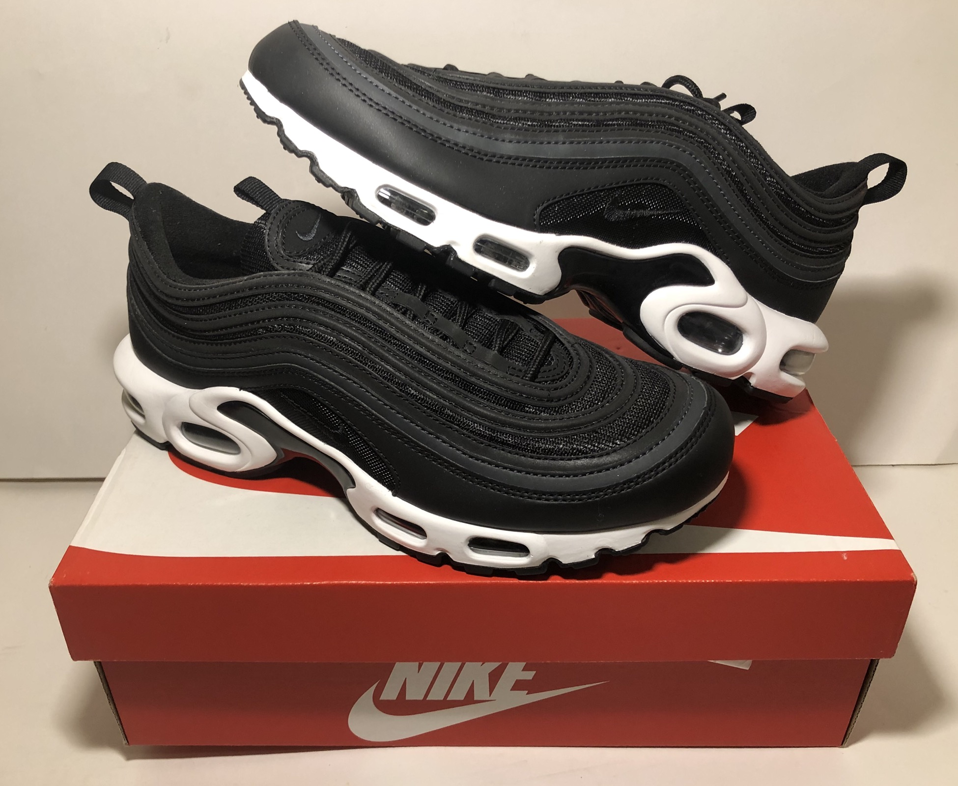 Erudito desconcertado Seguid así  Nike Nike Air Max 97 Plus Tn Hybrid Black/white Ah8143-001 Brand New Sold  Out | Grailed