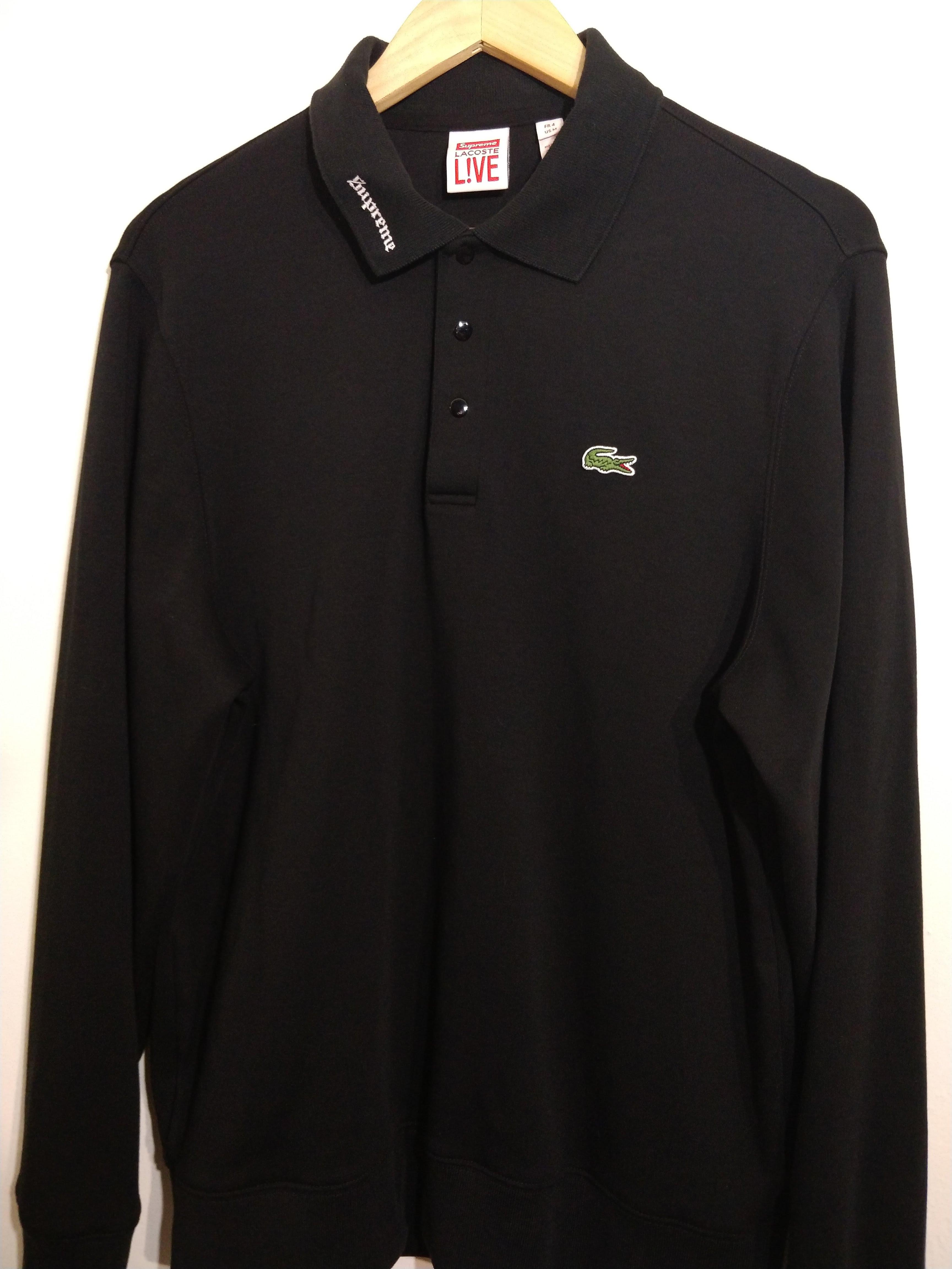 74d2c50ee93d Supreme × Lacoste ×. Supreme x Lacoste Long Sleeve Polo. Size: US M / EU 48-50  ...