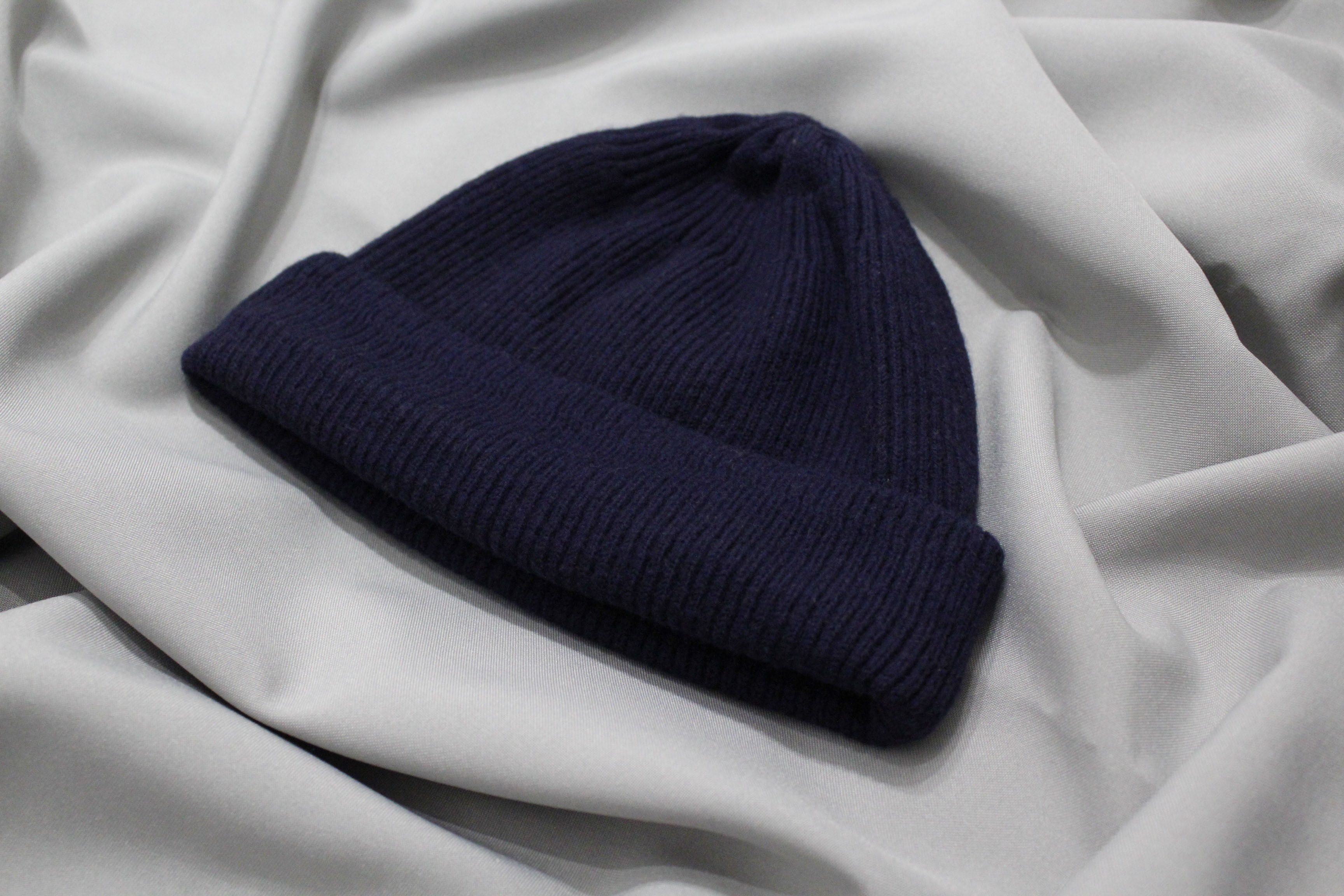 52b8609cef1 A.P.C. A.P.C. Navy Ribbed Wool beanie Size one size - Hats for Sale ...