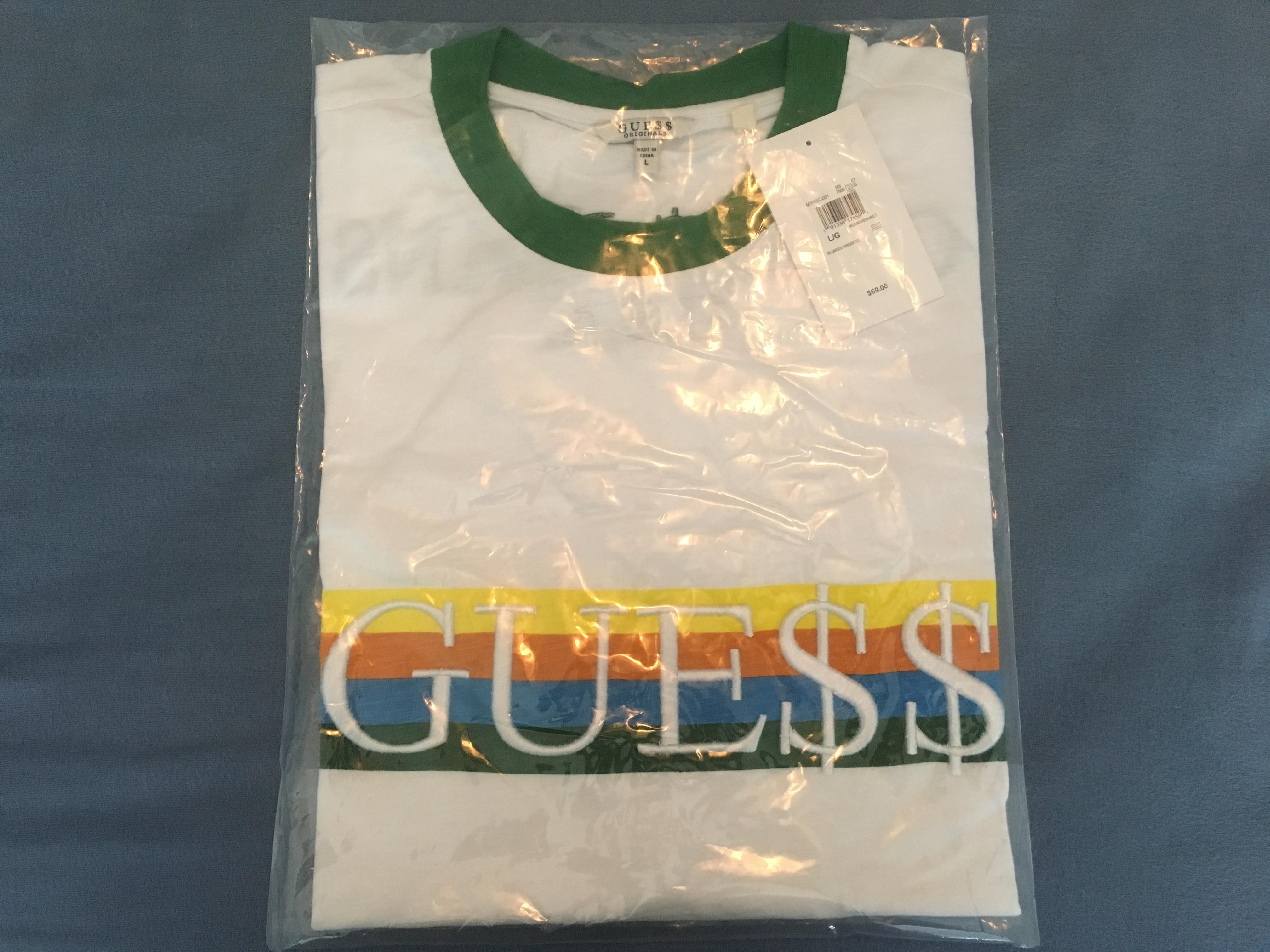 7e8586962469 Guess × Asap Rocky ×. Guess x A$AP Rocky Logo Ringer Tee (Green ...