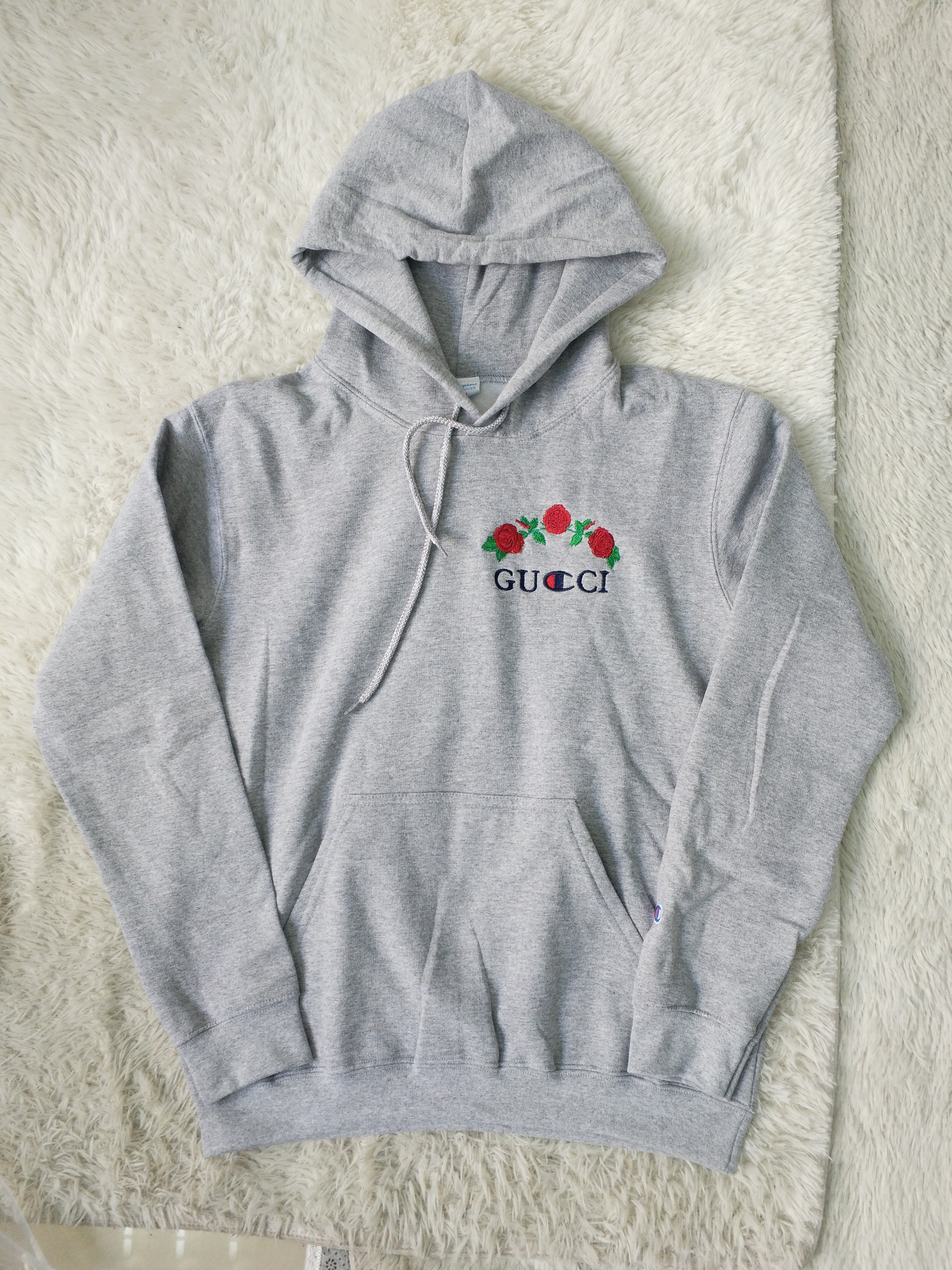6c57b7c25a2 Gucci Gucci x Champion Rose Hoodie custom bootleg Avanope Size m ...