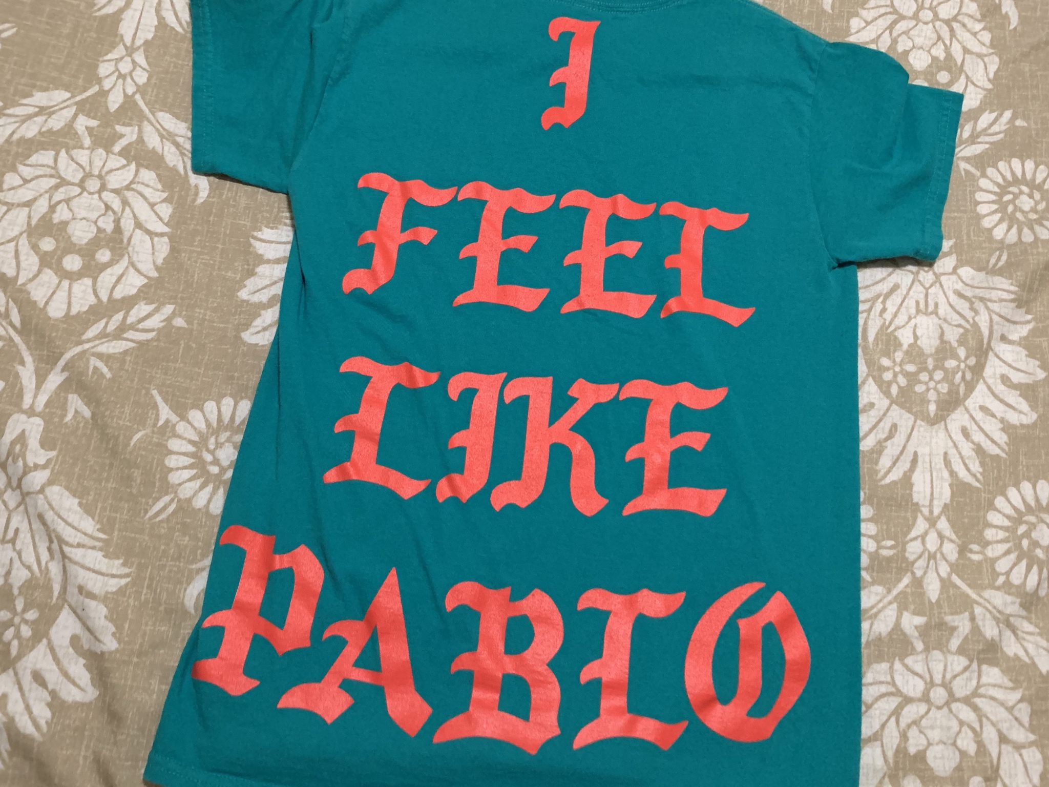 Miami I Feel Like Pablo yeezus pop Up Shop Long Sleeve White T-shirt Kanye West