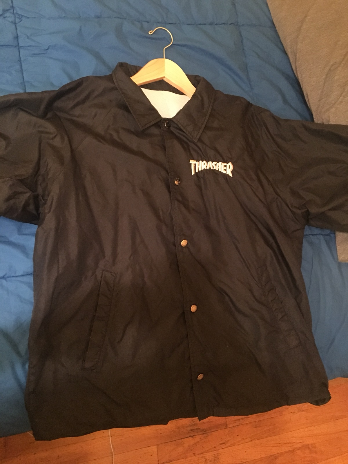 b143873ff43f Thrasher VINTAGE Thrasher Jacket From Mid 90 s Size l - Light Jackets for  Sale - Grailed