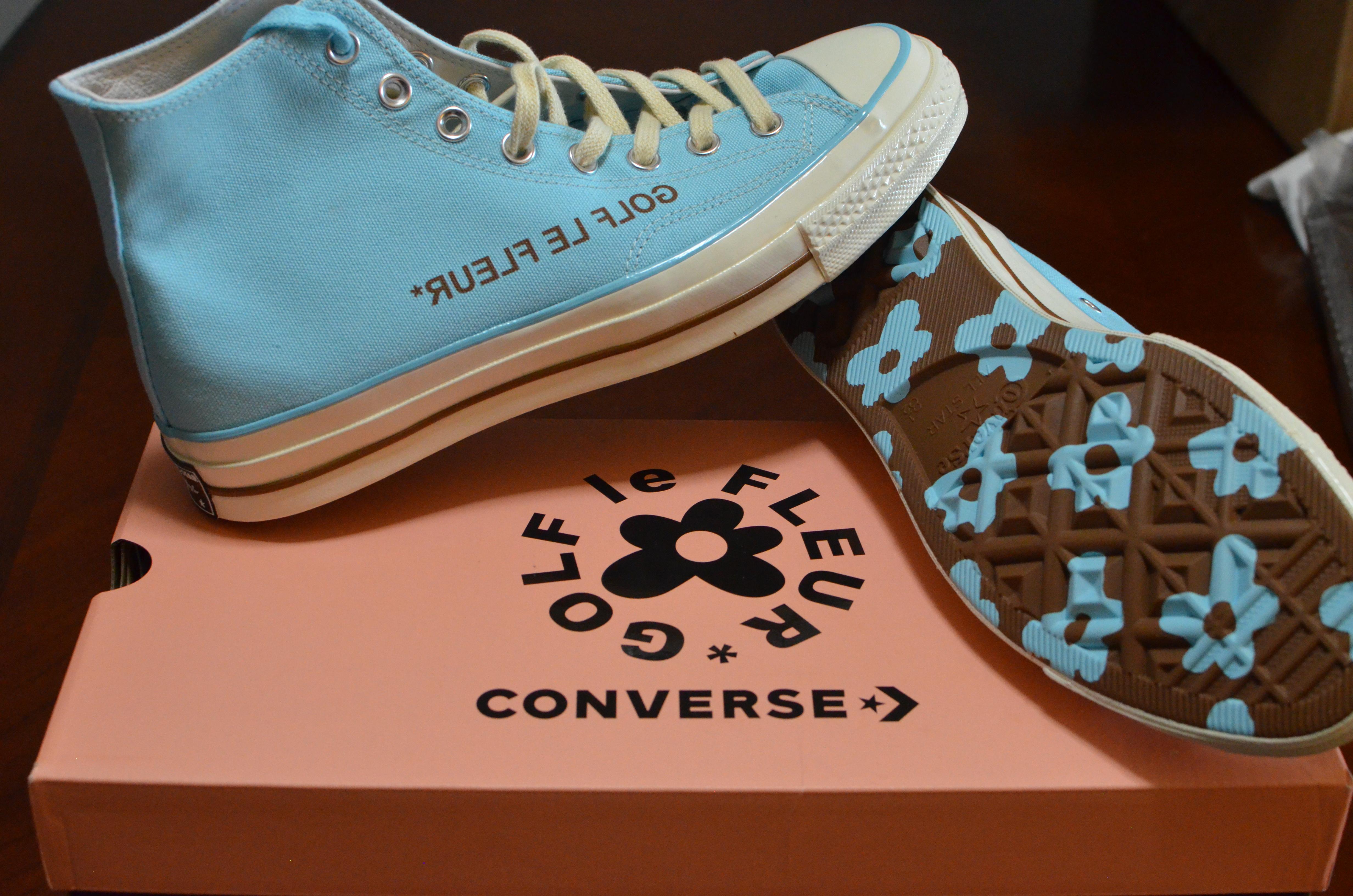 Converse Golf Le Fleur Hi Top Converse Blue Cfg Exclusive Grailed