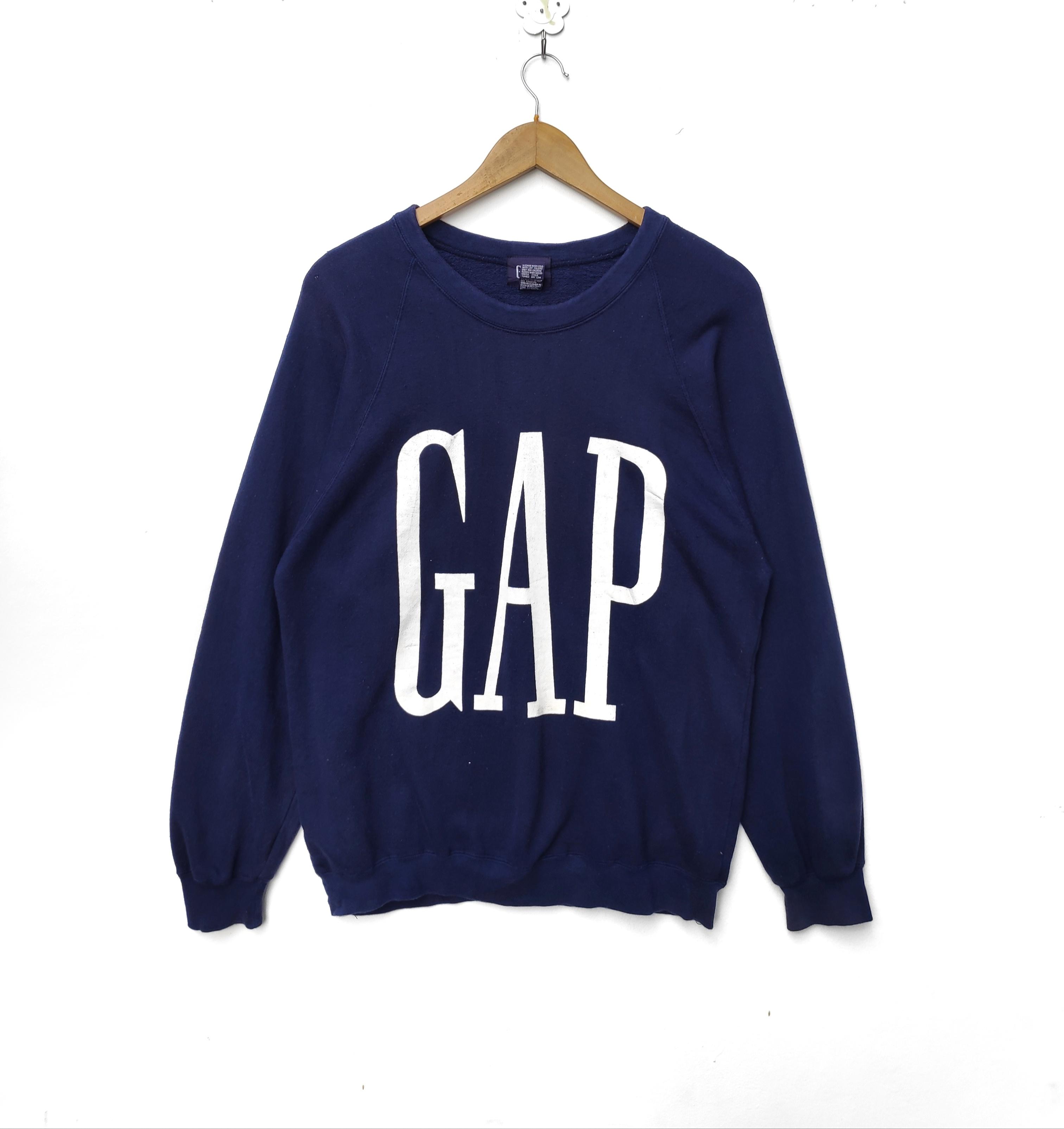 31f65aa0d13ed GAP Sweatshirt Sweater Crewneck Pullover Jumper Big Logo Hip Hop Swag Rap  tee Shirt 90s Sportswear Streetwear Urban
