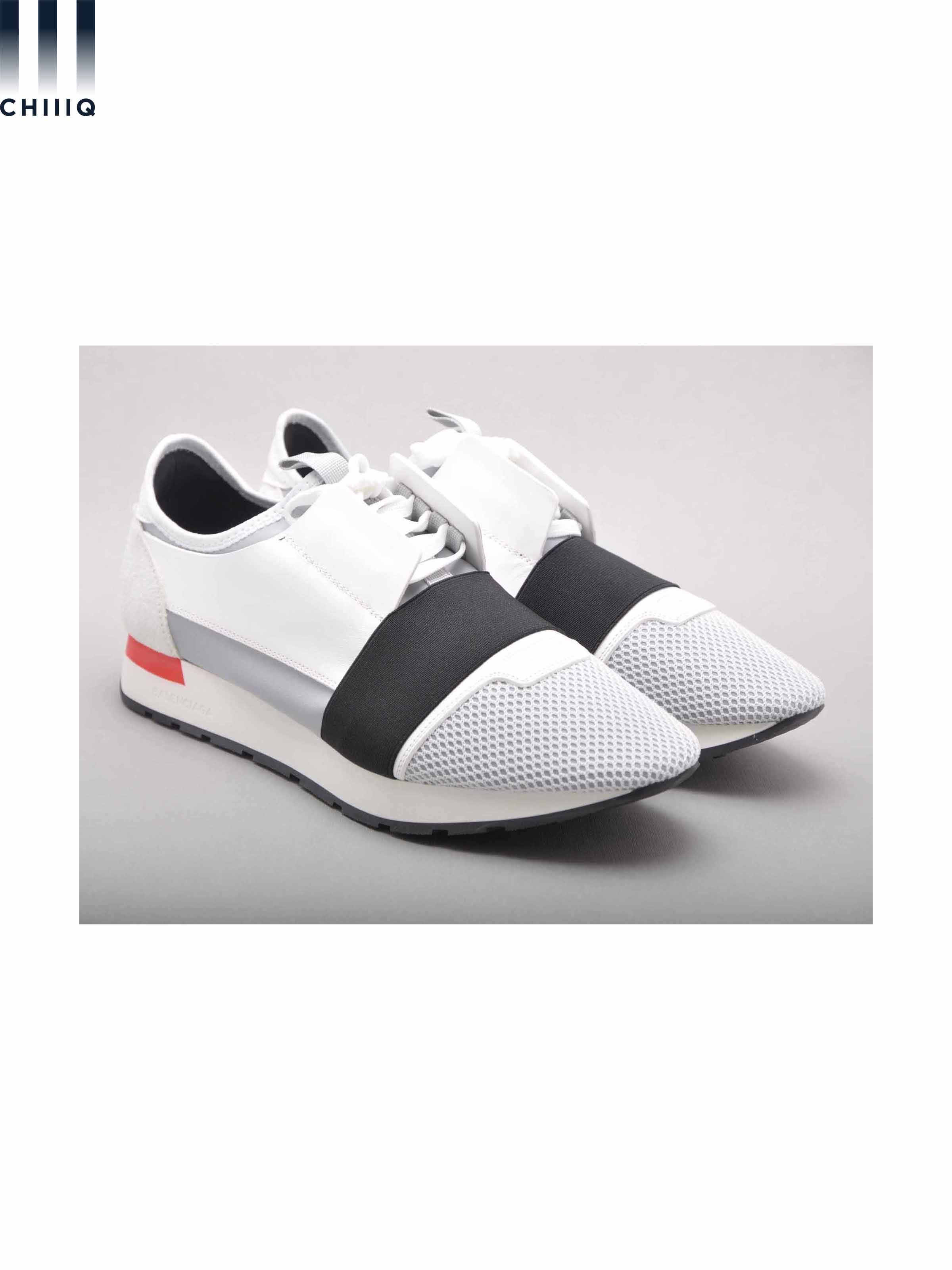 26c35f7cc34b Balenciaga New White Multimaterial Race Runners Sneakers Size 11 ...